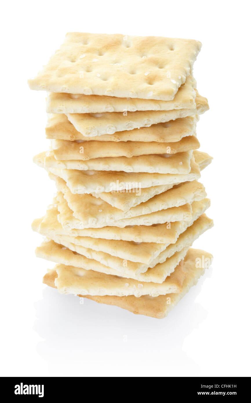 Crackers pile Stock Photo