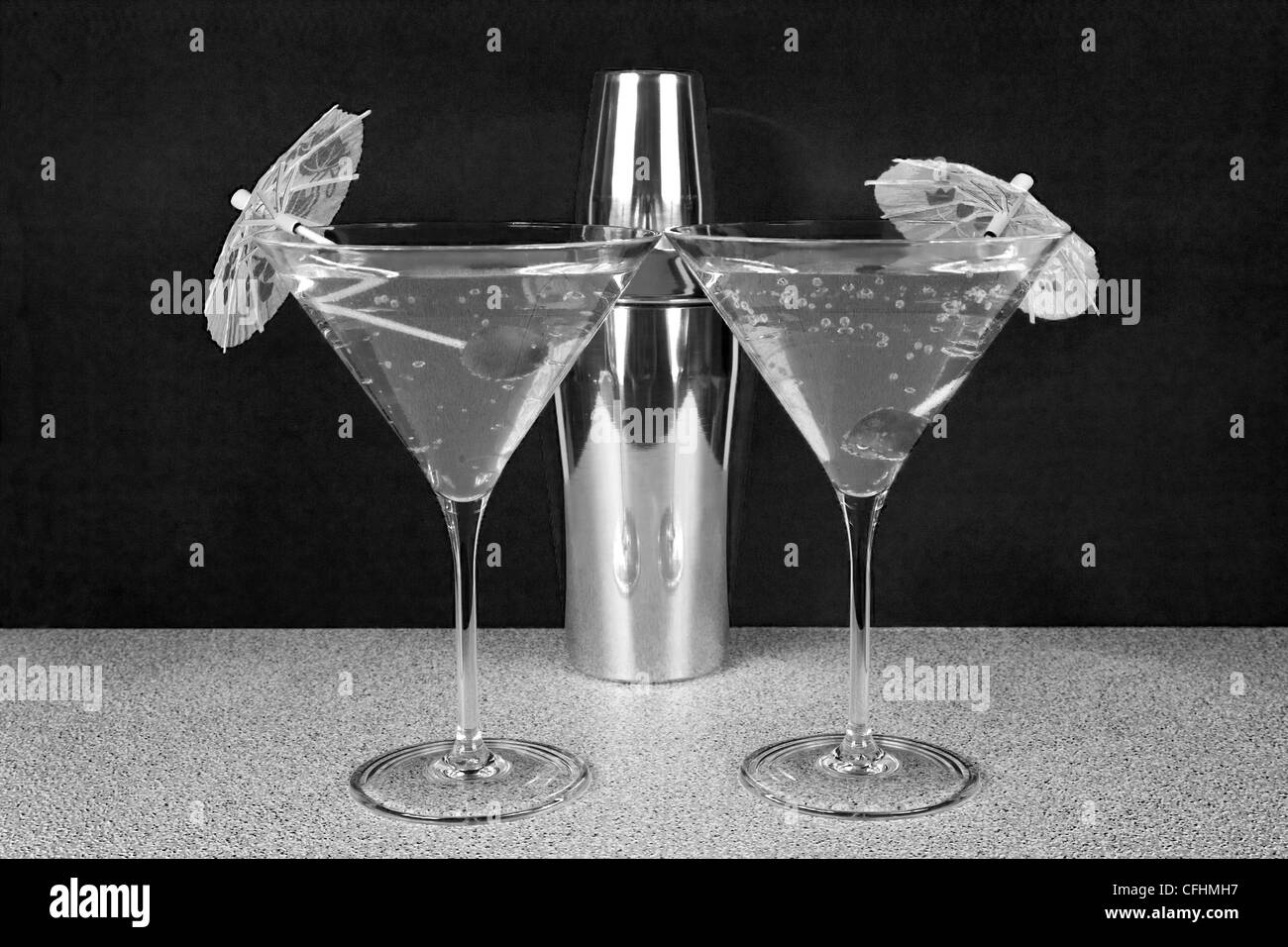 Cocktails for two - Stock Image
