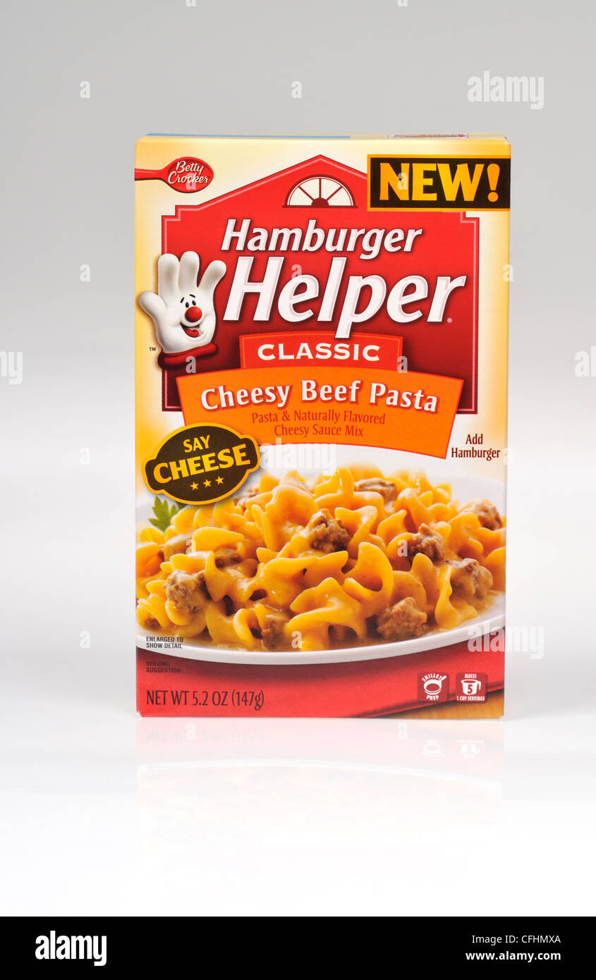 Box Of Betty Crocker Cheesy Beef Pasta Hamburger Helper Classic On