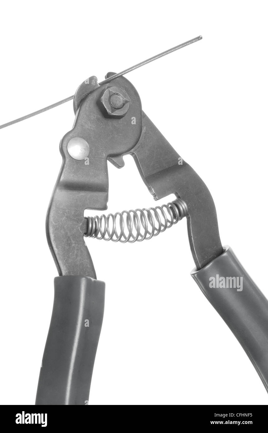 bicycle cable cutter cutting tool - Stock Image