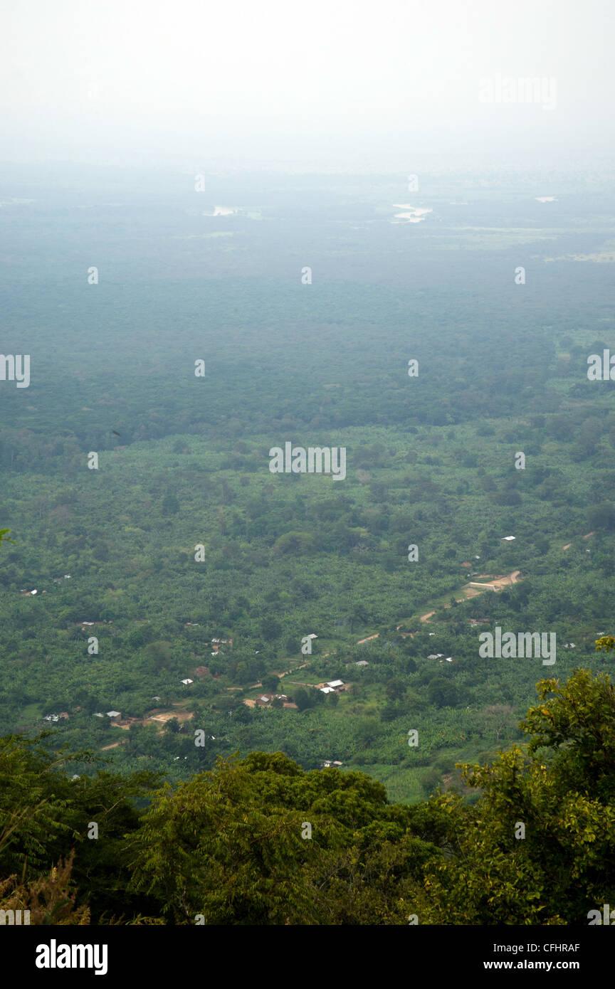 Rwenzori Valley, Bundibugyo, western Uganda. - Stock Image