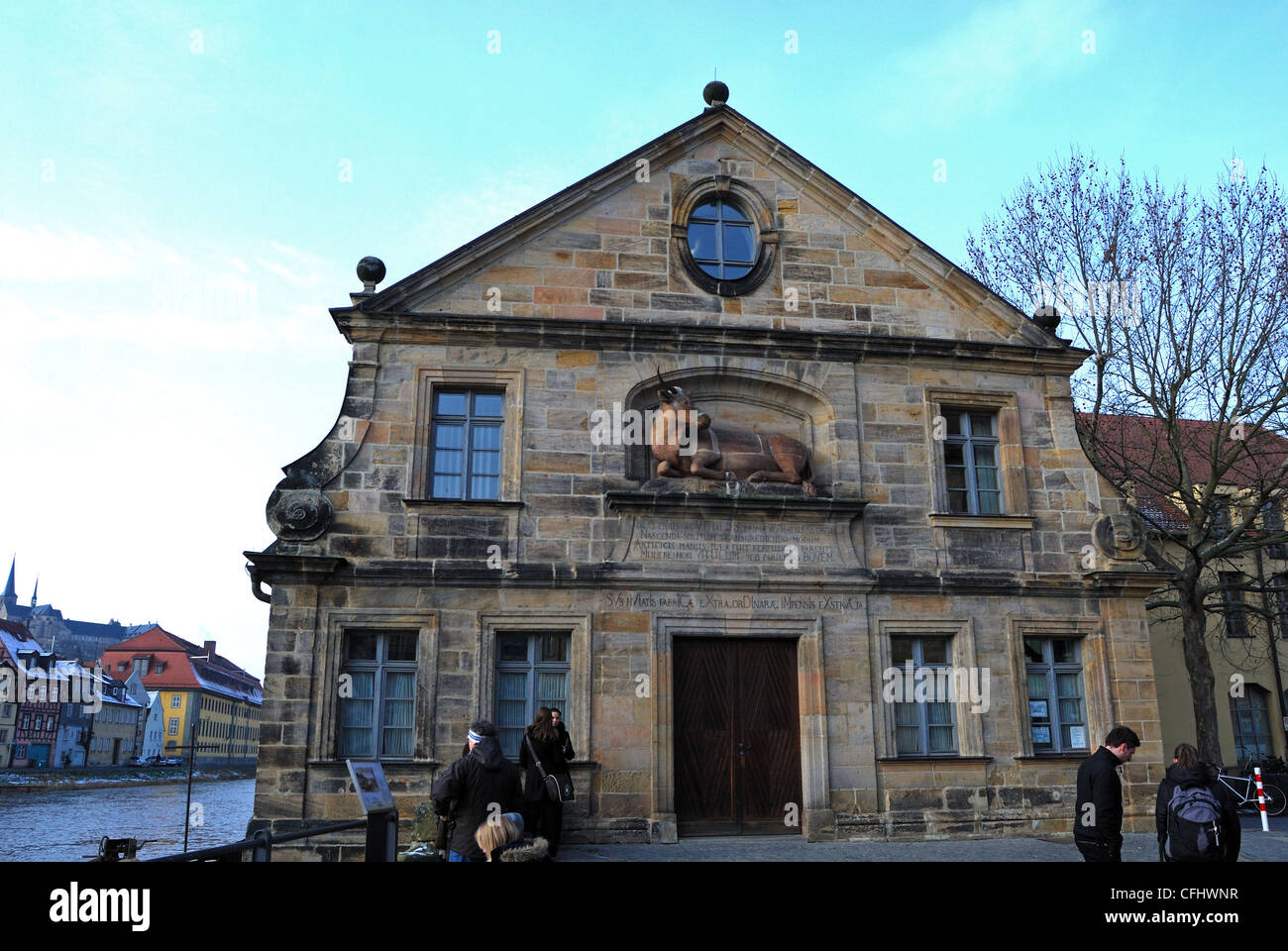 Slaughter house (Abattoir), Bamberg, Bavaria, Germany, Europe. - Stock Image