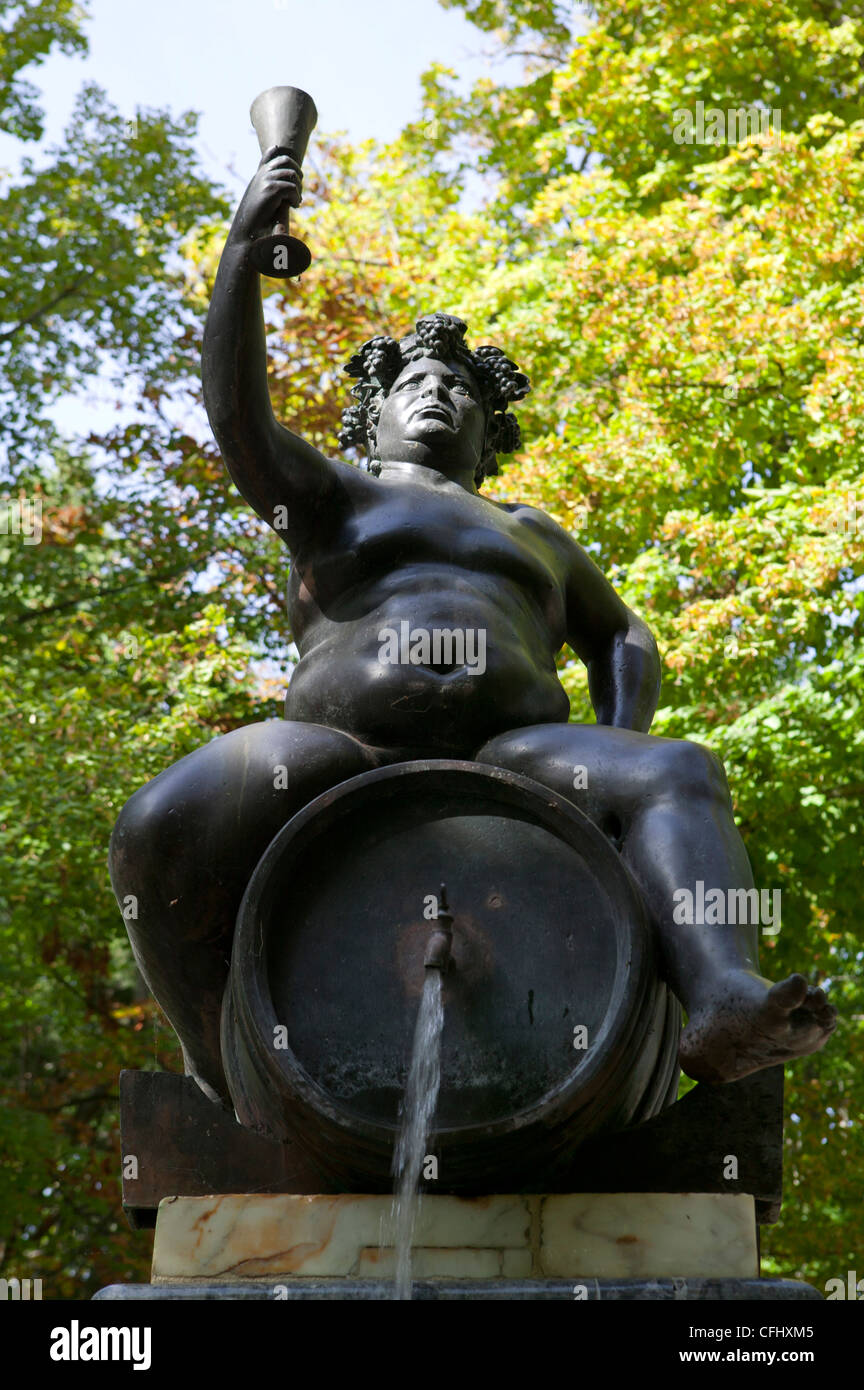 Aranjuez Madrid Spain Baco grape monument decoration bronza metal ...