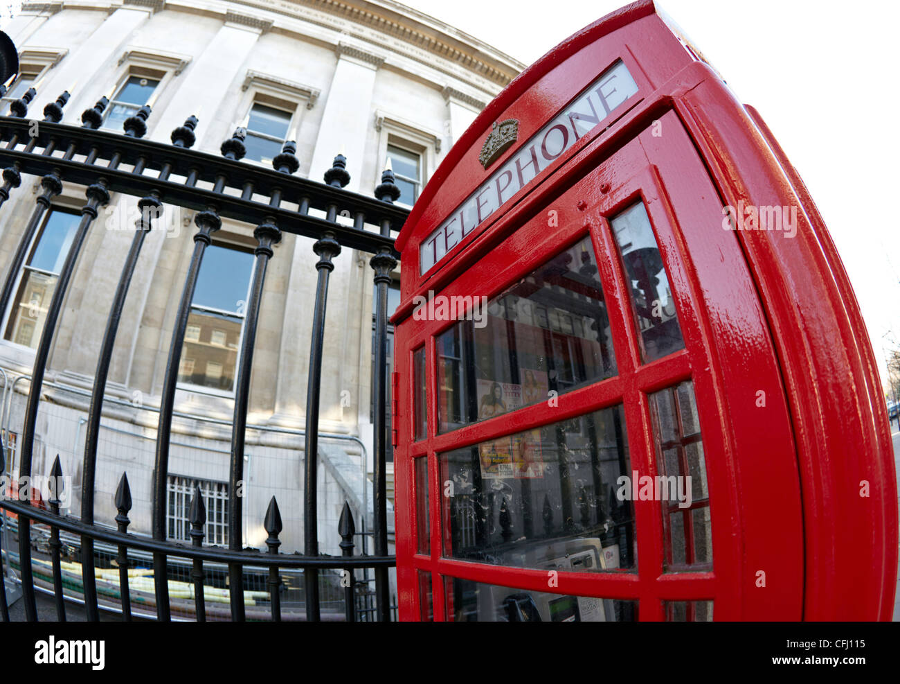 Traditional Red Telephone Box London UK - Stock Image