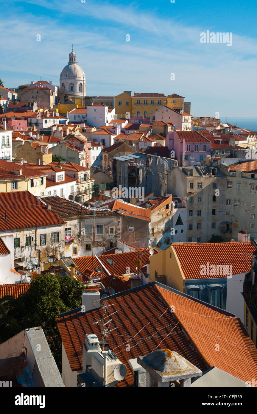 Alfama district central Lisbon Portugal Europe - Stock Image