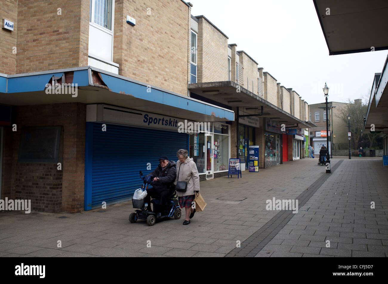 Thetford Town Center Shopping precinct - Stock Image