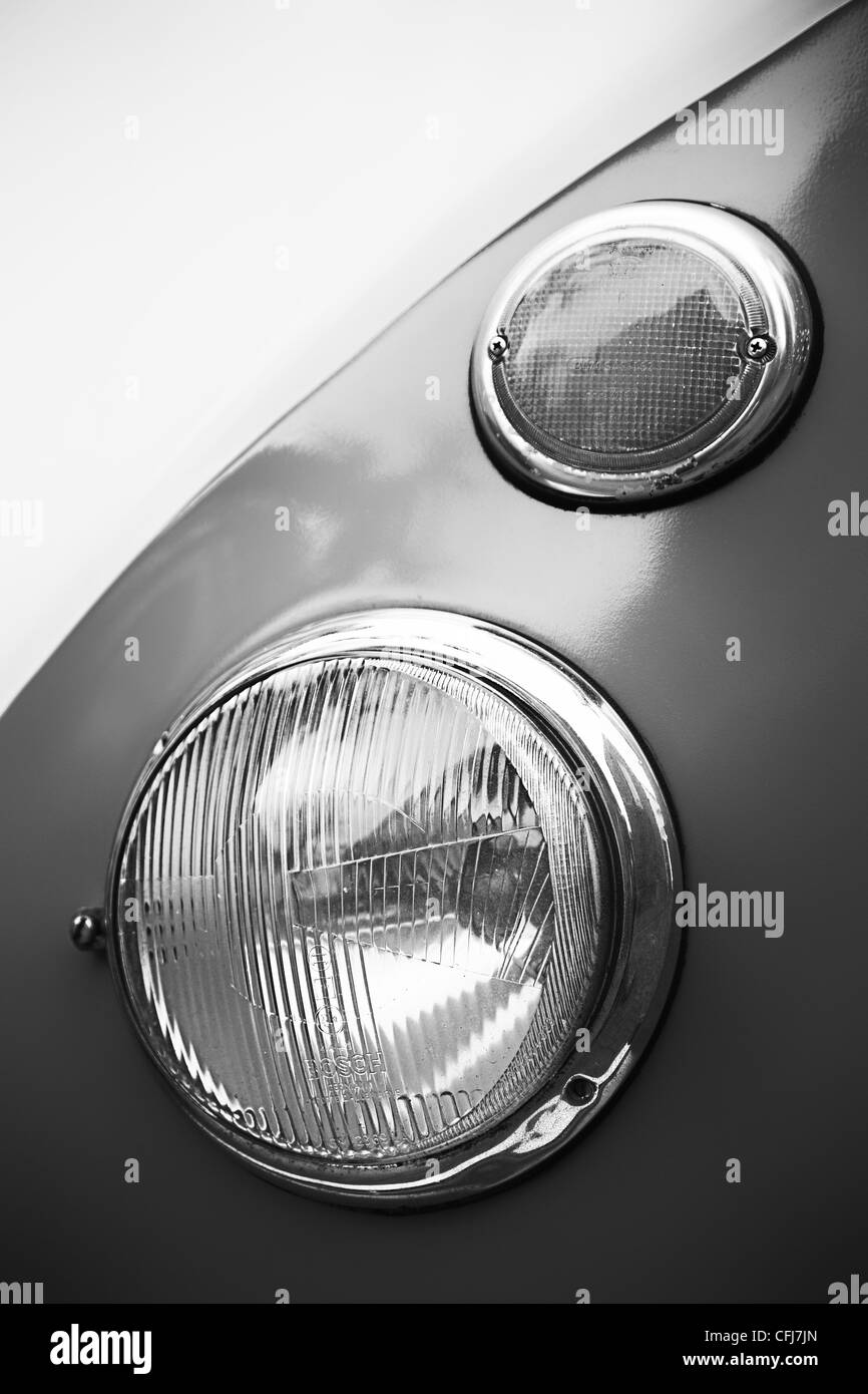 Detail of a volkswagen transporter T1 from 1952 - Stock Image