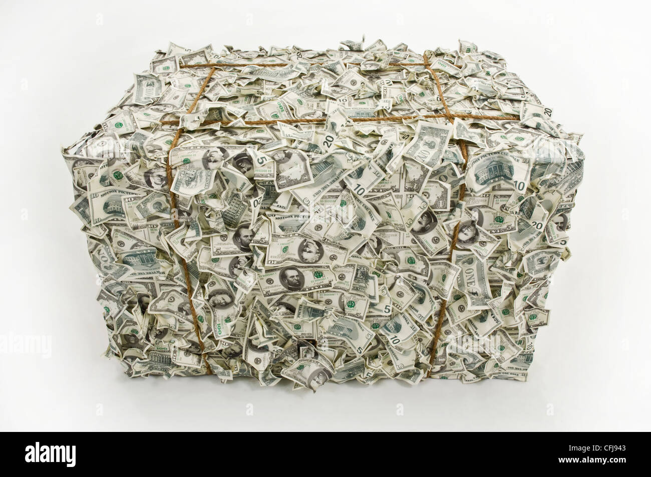 Bale of money bills - Stock Image