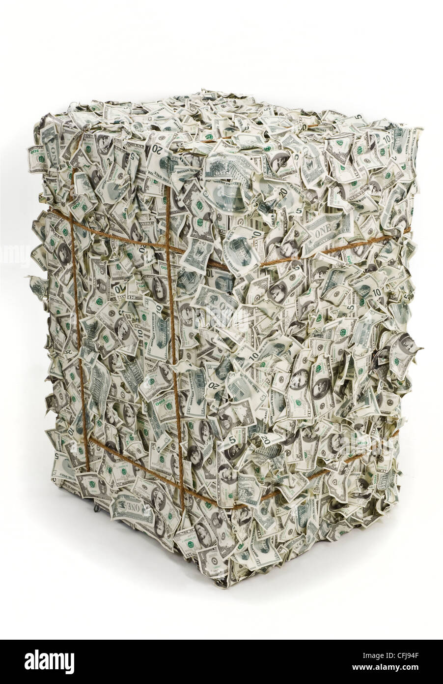 Bale of money - Stock Image