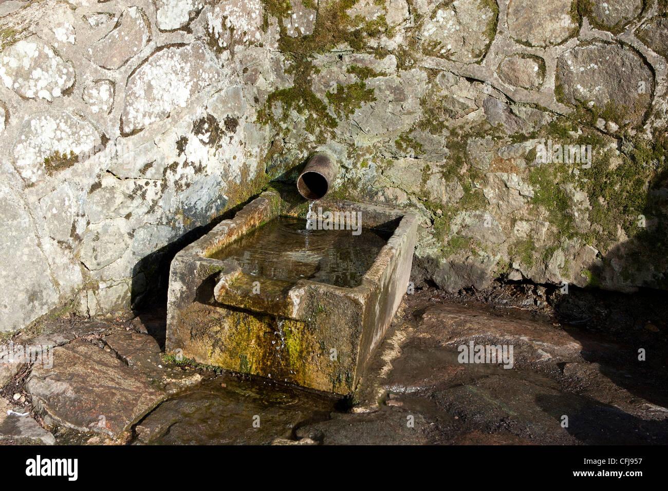 Spring water malvern hills - a public spring in malvern - Stock Image