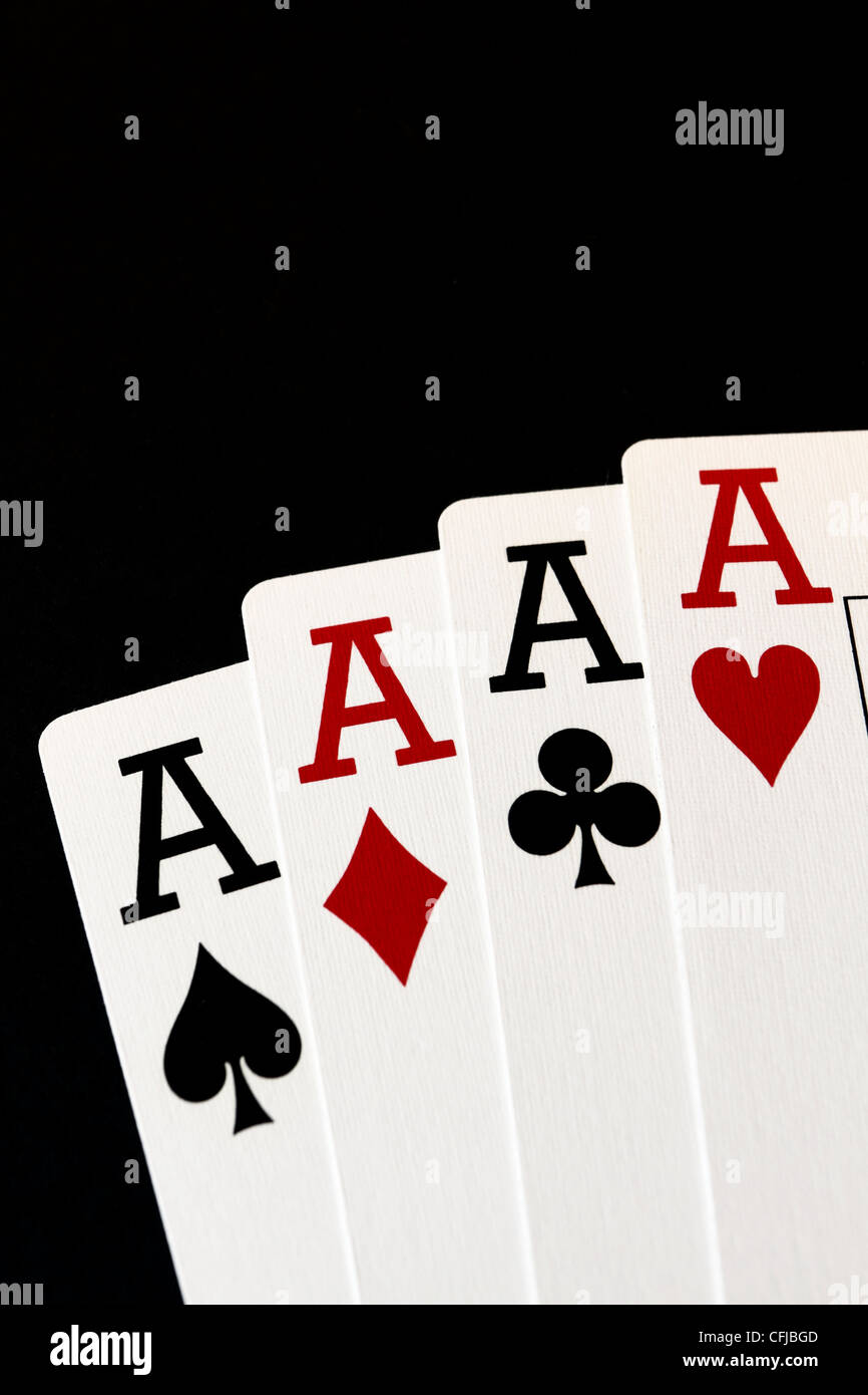 Four Aces. A sign of excellence. - Stock Image
