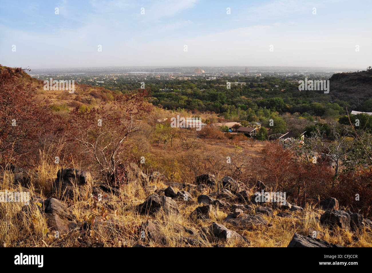 Bamako view from atop a hill, Mali Stock Photo