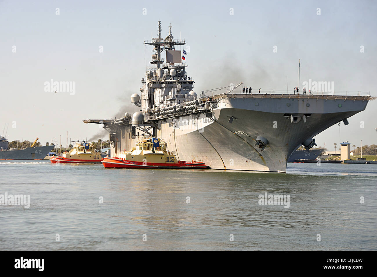 Royal Navy Aircraft Carrier Hms Ark And Uss Wasp Sit At Anchor During The 2010 Fleet Review In Halifax Nova Scotia