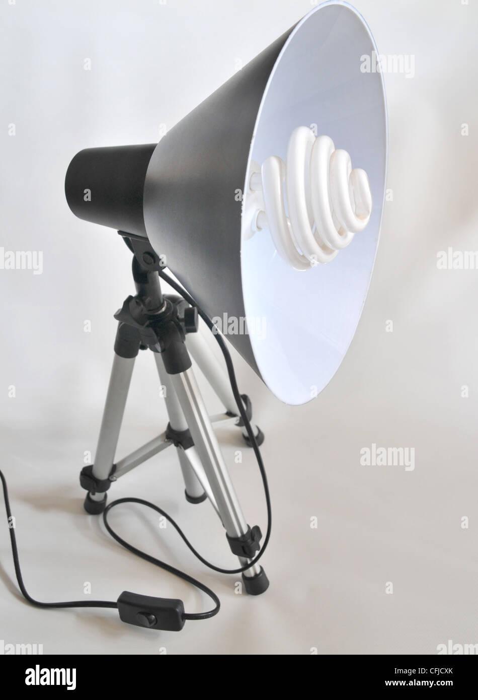 Daylight Fluorescent Studio Light. - Stock Image