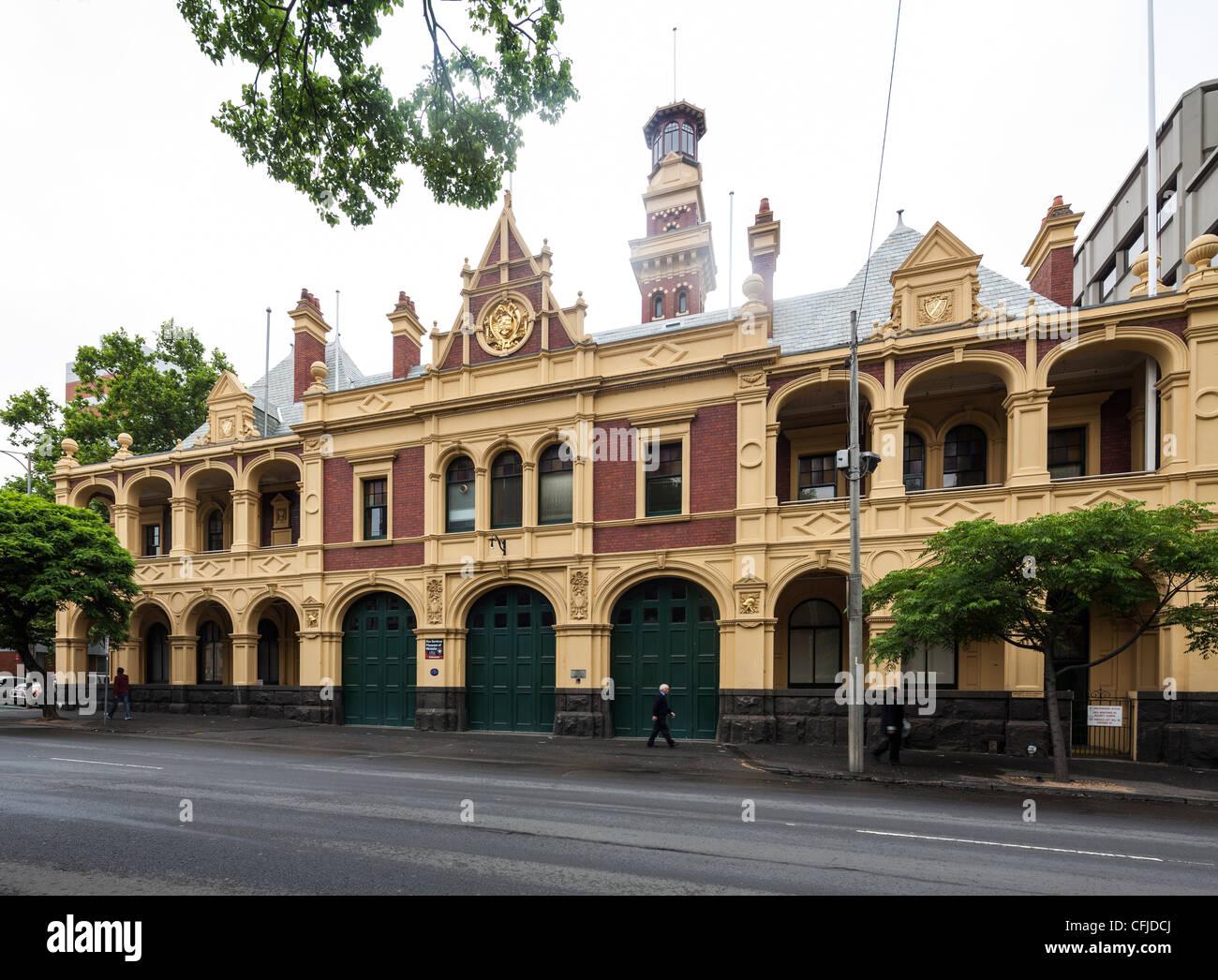 Eastern Hill Fire Station, Melbourne, Australia - Stock Image