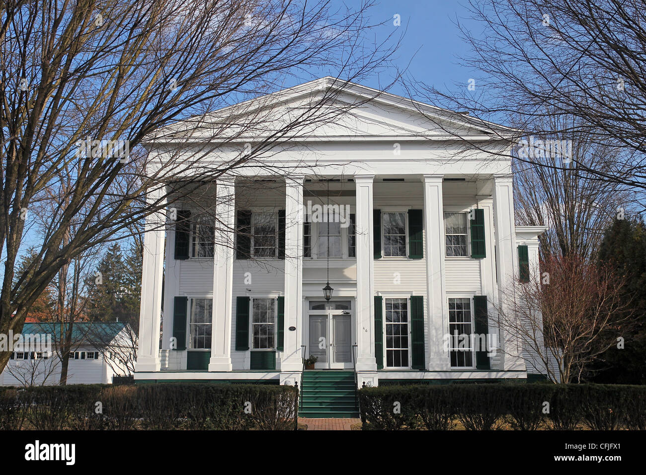 This Greek Revival Style Home Built In 1832 Is One Of Saratoga Springs Many Victorian Era Homes