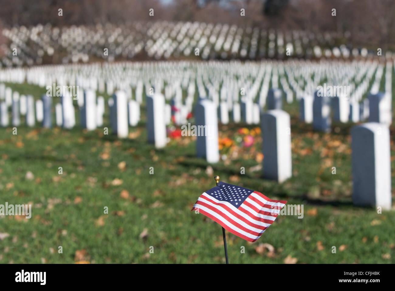 Arlington National Cemetery, Virginia USA - Stock Image