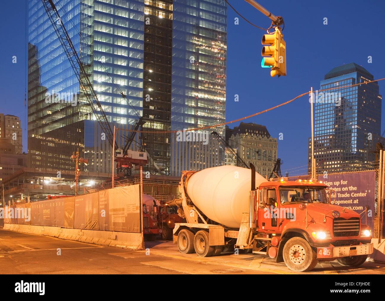 Redevelopment of World Trade Centre site, New York City, USA - Stock Image