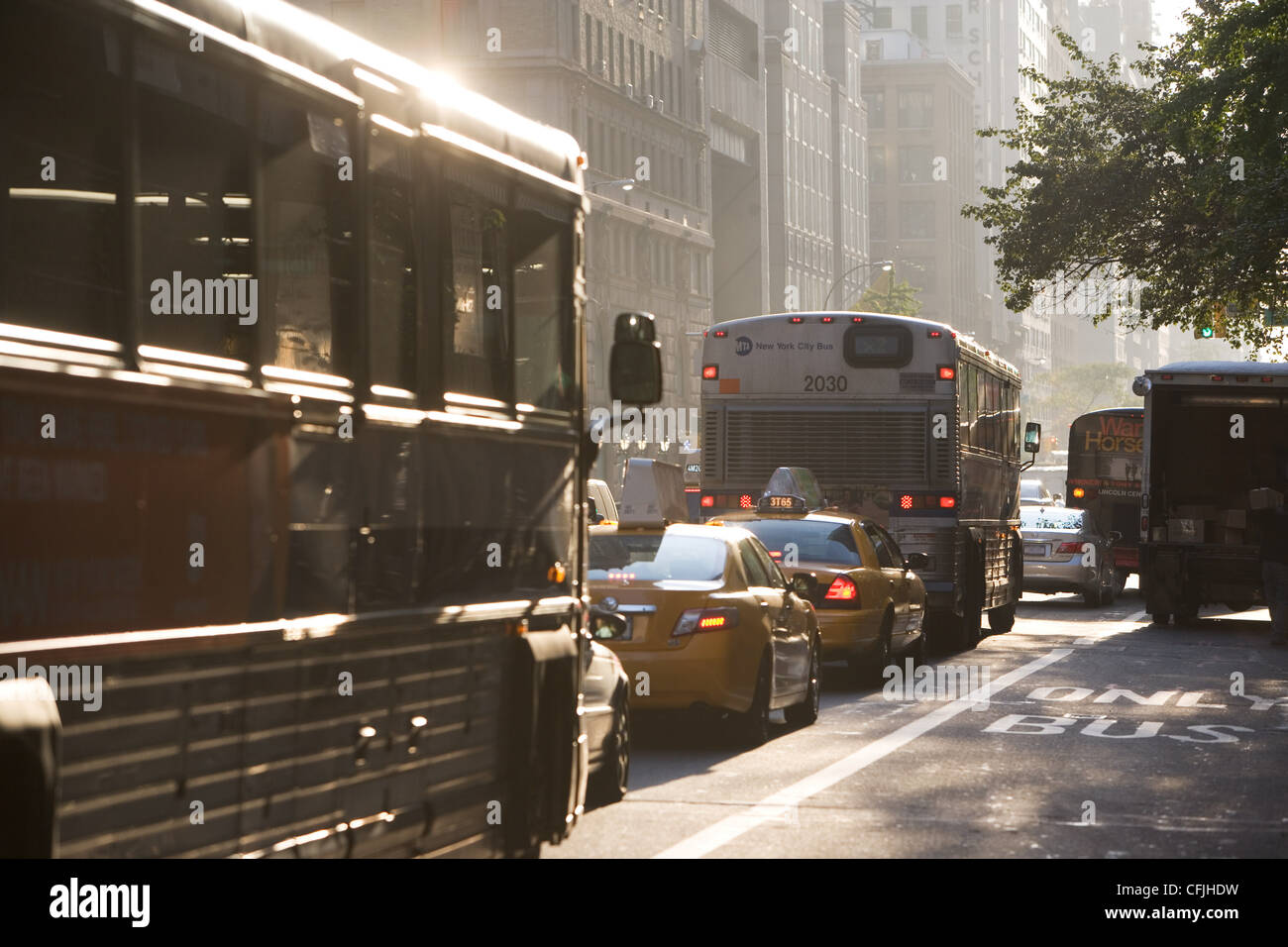 Traffic in New York City, USA - Stock Image