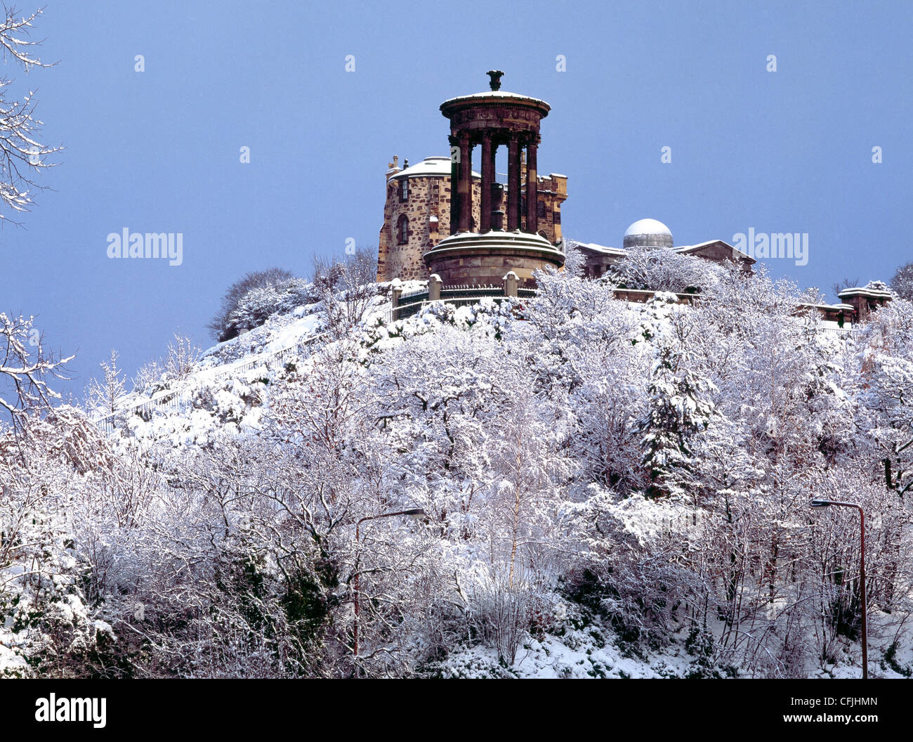 Calton Hill, Edinburgh, Scotland - Stock Image