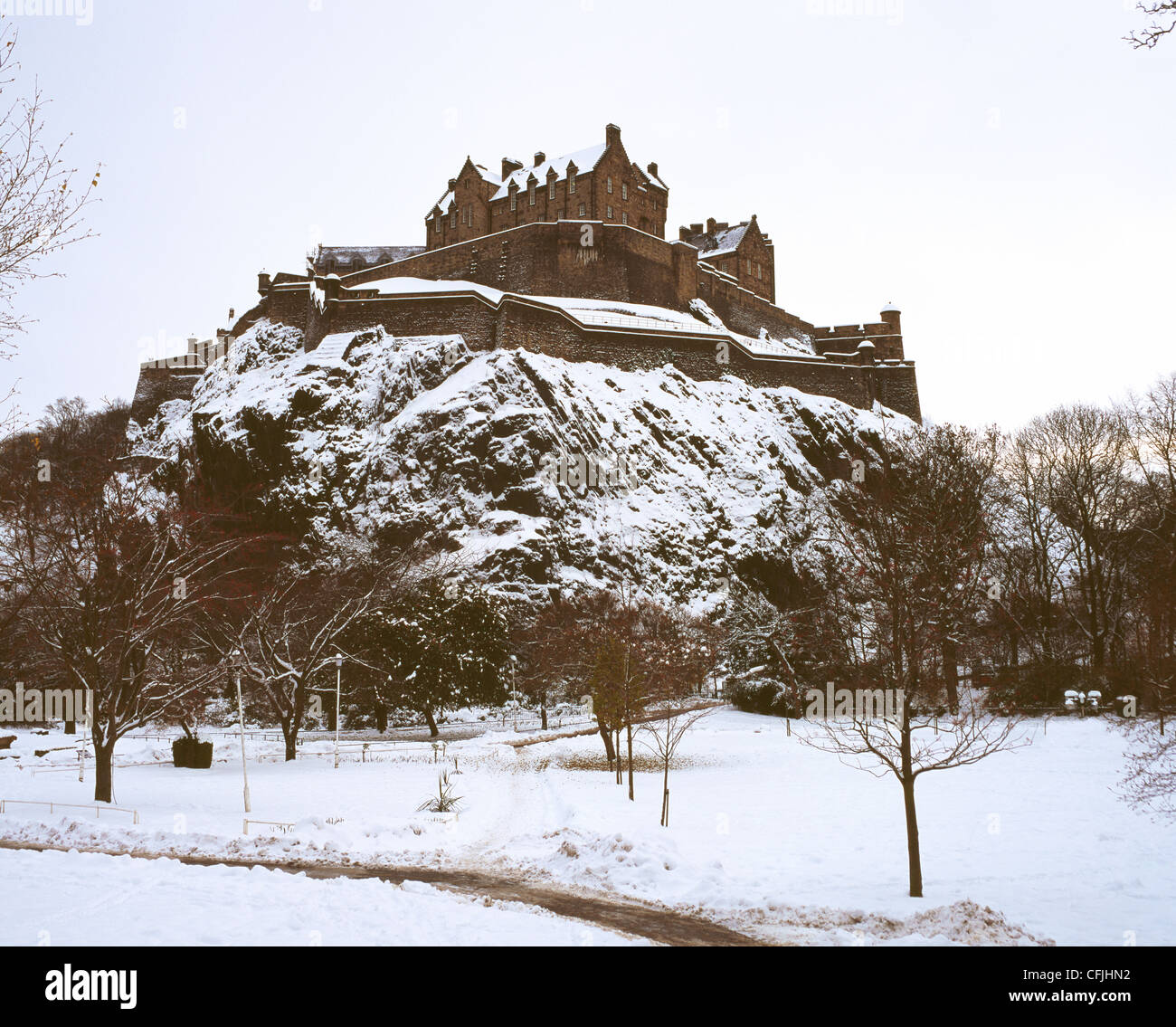 Edinburgh Castle, Scotland - Stock Image
