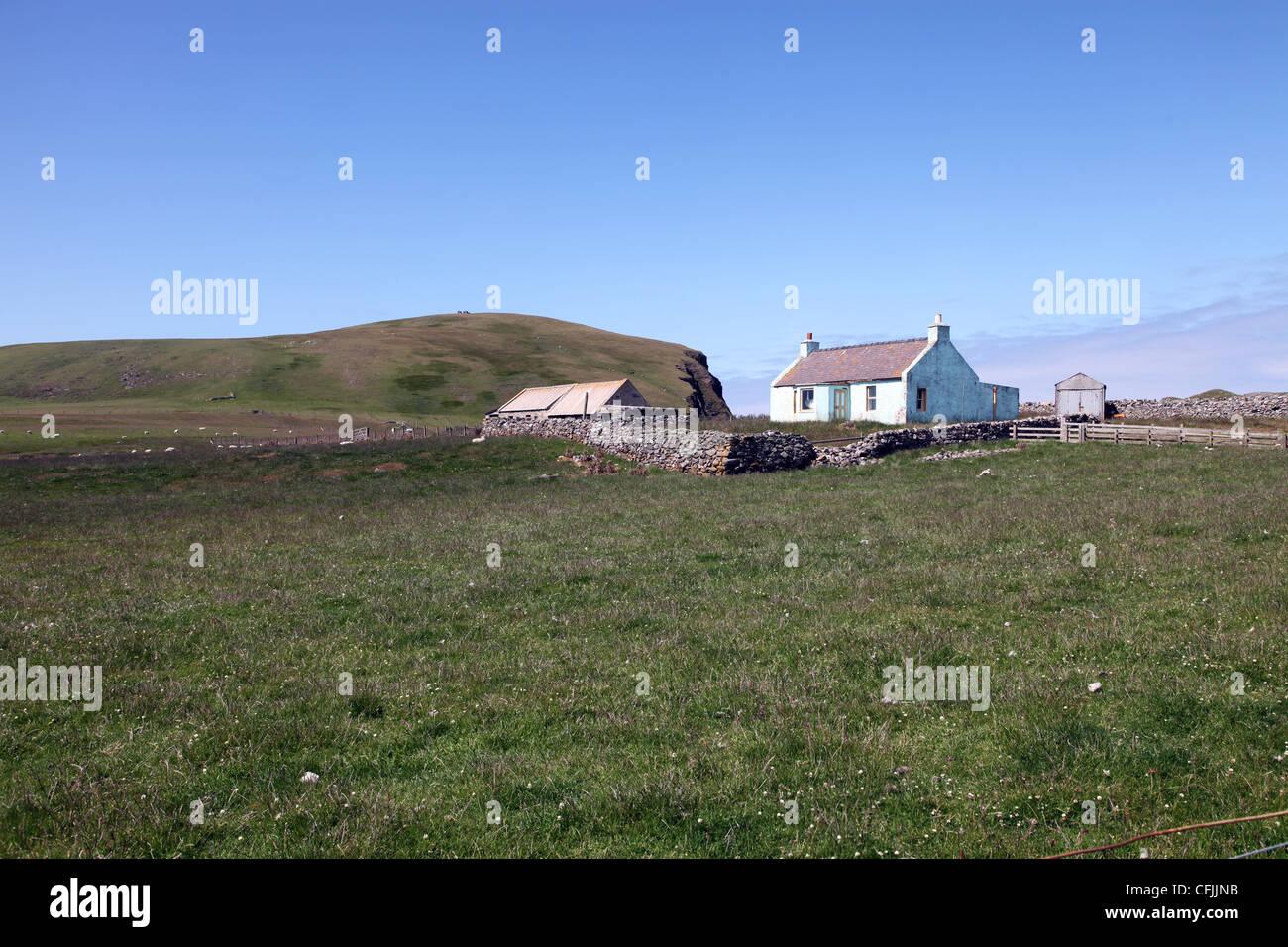 Croft, Fair Isle, Shetland, Scotland, United Kingdom, Europe - Stock Image
