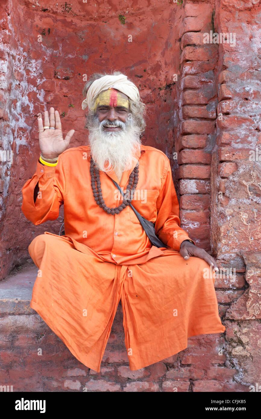Sadhu (Holy Man), Pashupatinath Temple, Kathmandu, Nepal, Asia - Stock Image