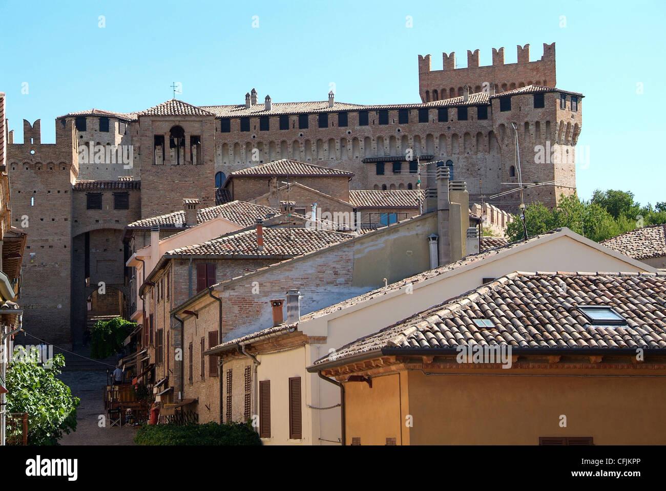 Gradara, old town, Adriatic coast, Emilia-Romagna, Italy, Europe - Stock Image