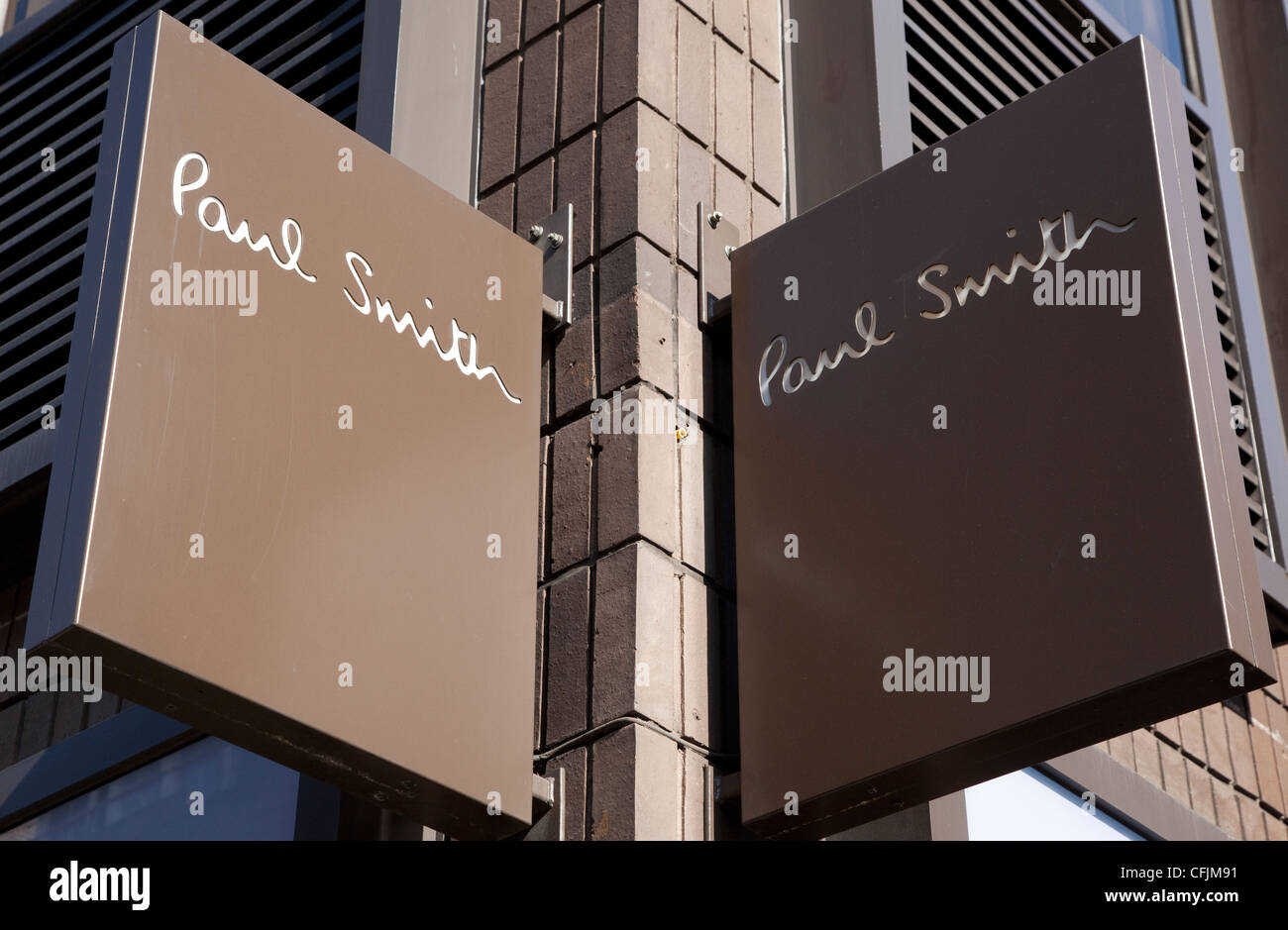 Sign on Paul Smith fashion store, London - Stock Image