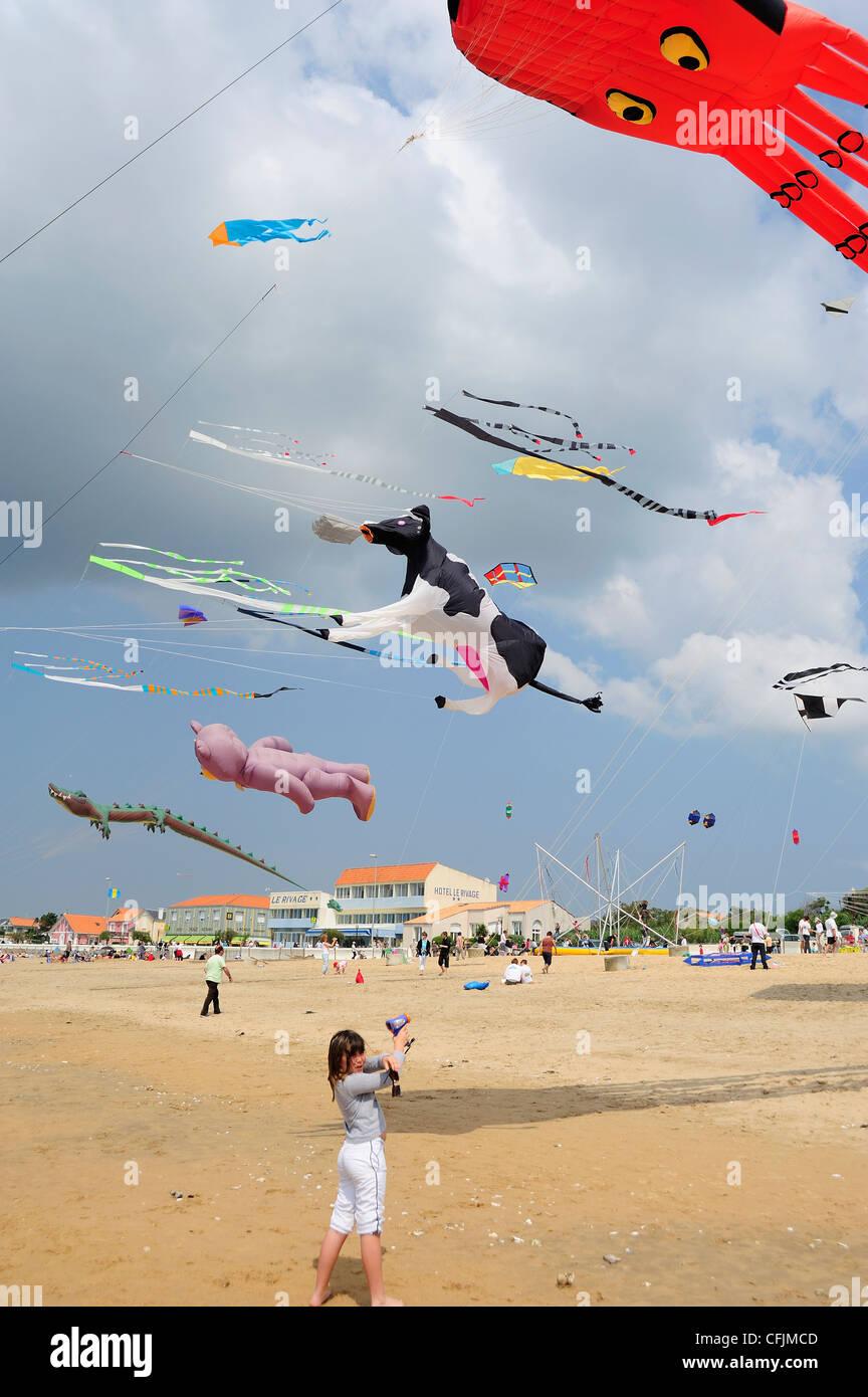 Kite festival, Charente Maritime, France, Europe - Stock Image