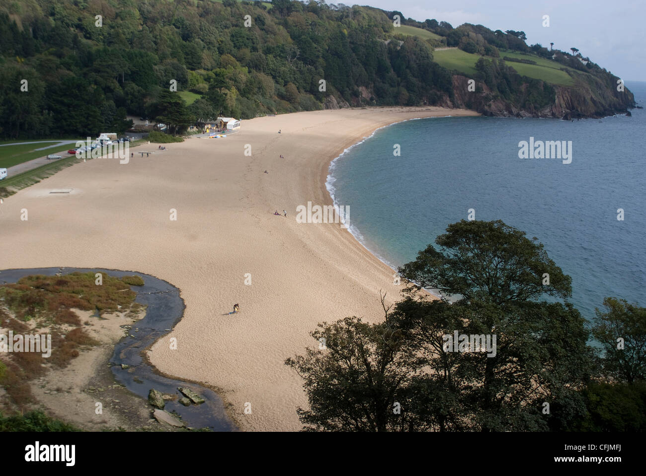 The beach at Blackpool Sands, Devon, England, United Kingdom, Europe - Stock Image