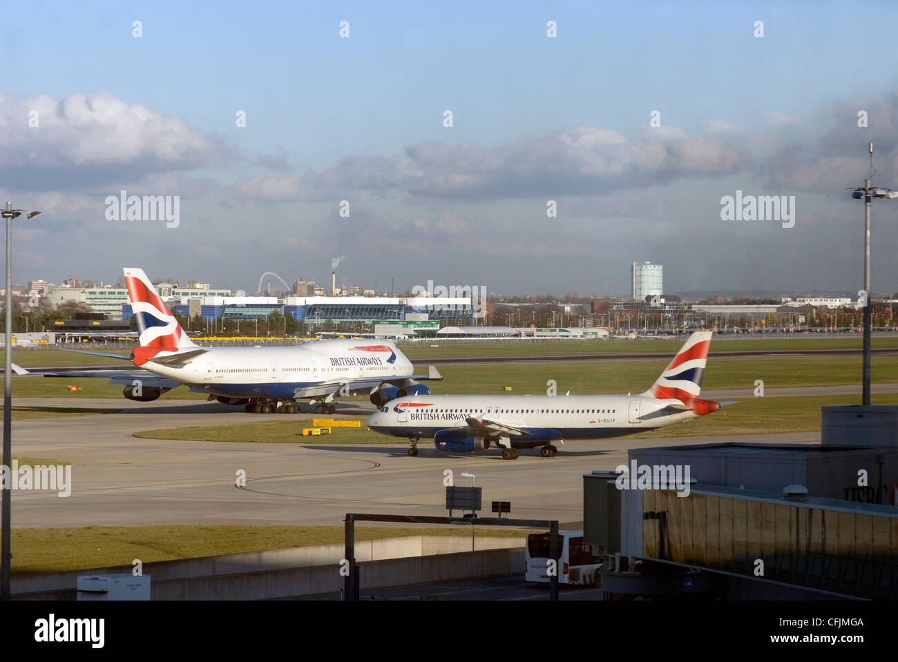 View from Terminal 5, Heathrow Airport, London, United Kingdom, Europe - Stock Image