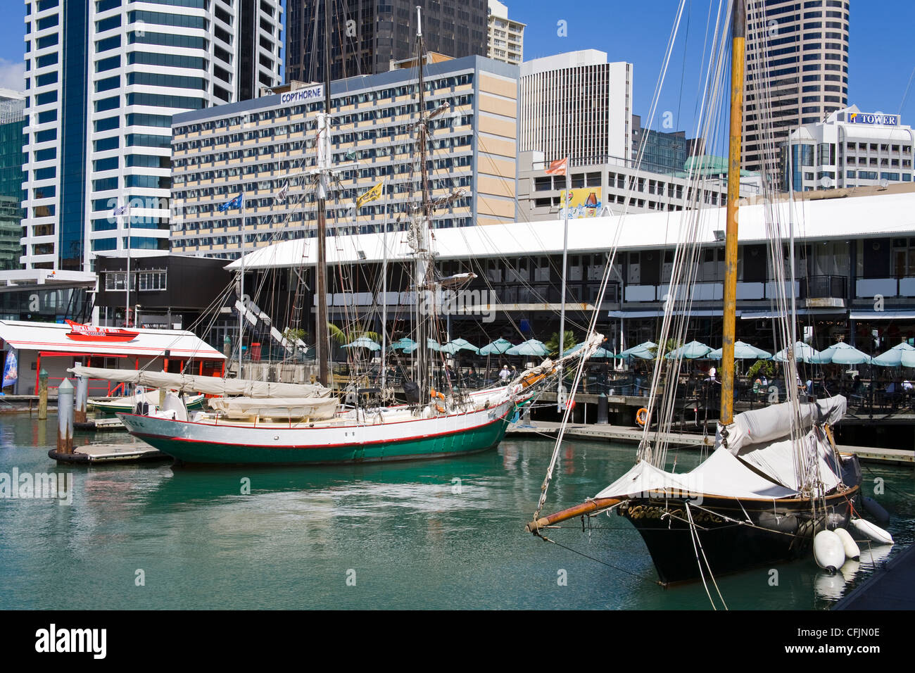 Princes Wharf, Central Business District, Auckland, North Island, New Zealand, Pacific - Stock Image