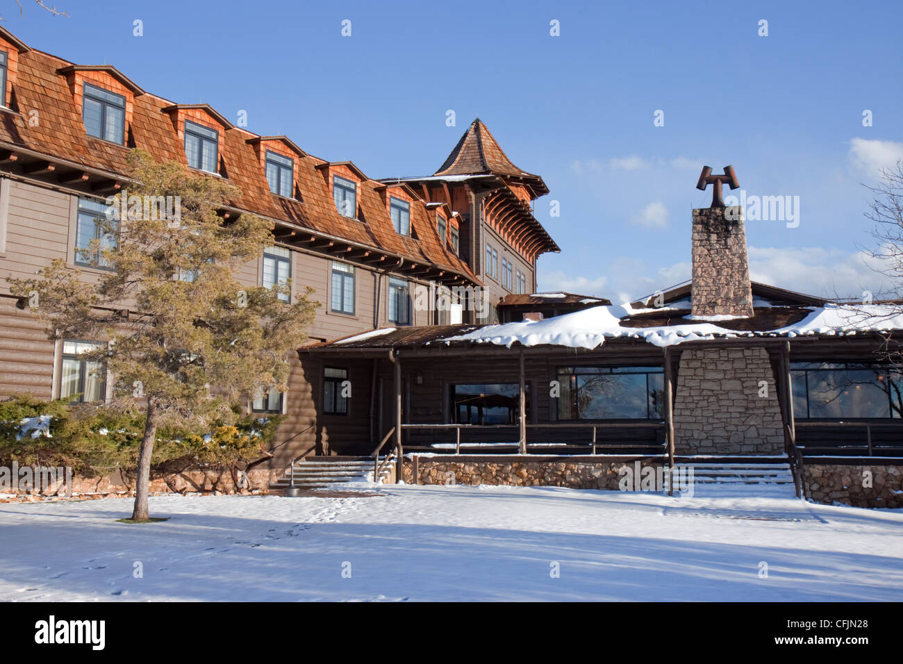 Dining Room At The Back Of The El Tovar Lodge In Grand Canyon Stock Photo Alamy
