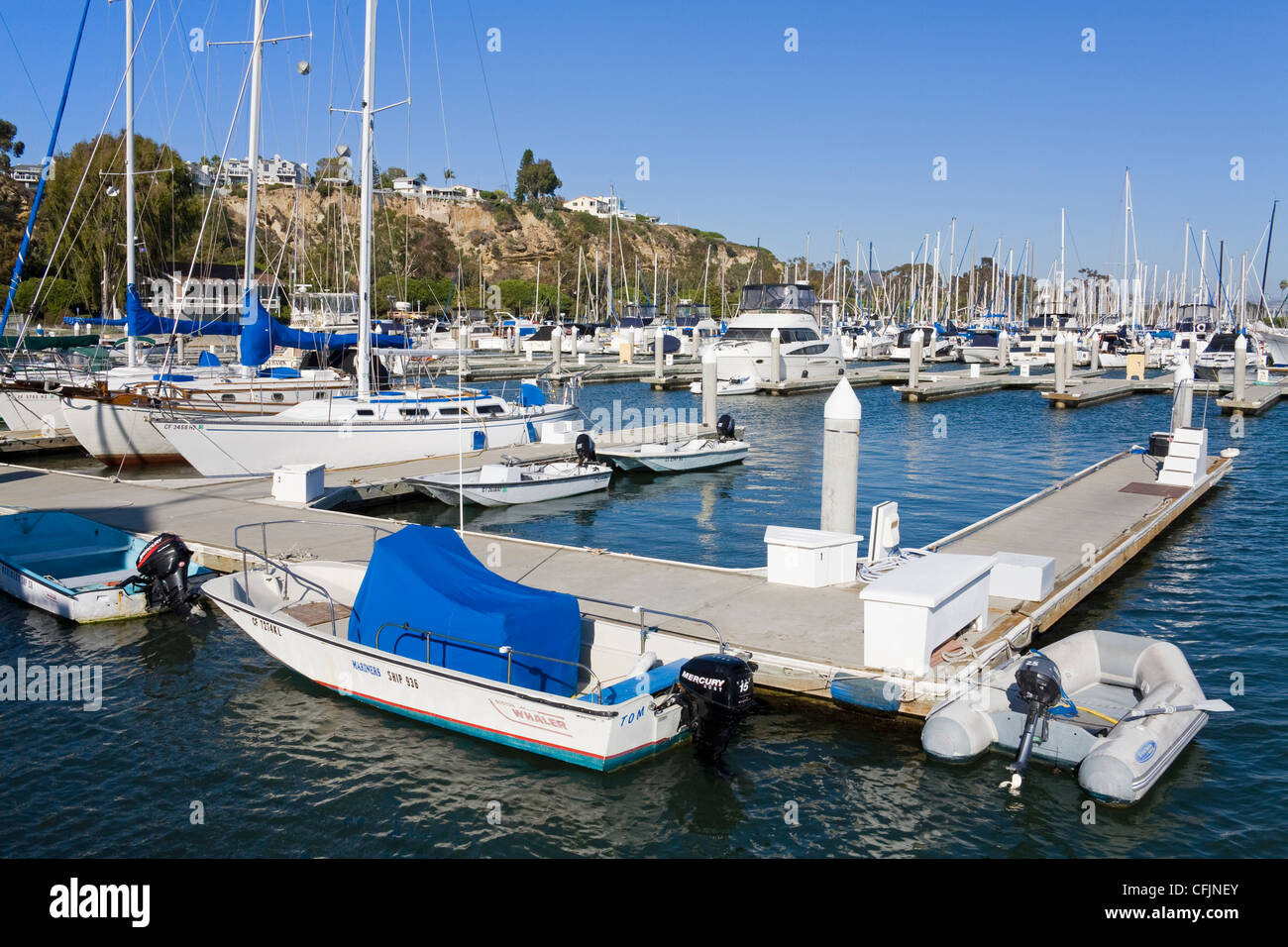 Marina in Dana Point Harbor, Orange County, California, United States of America, North America - Stock Image