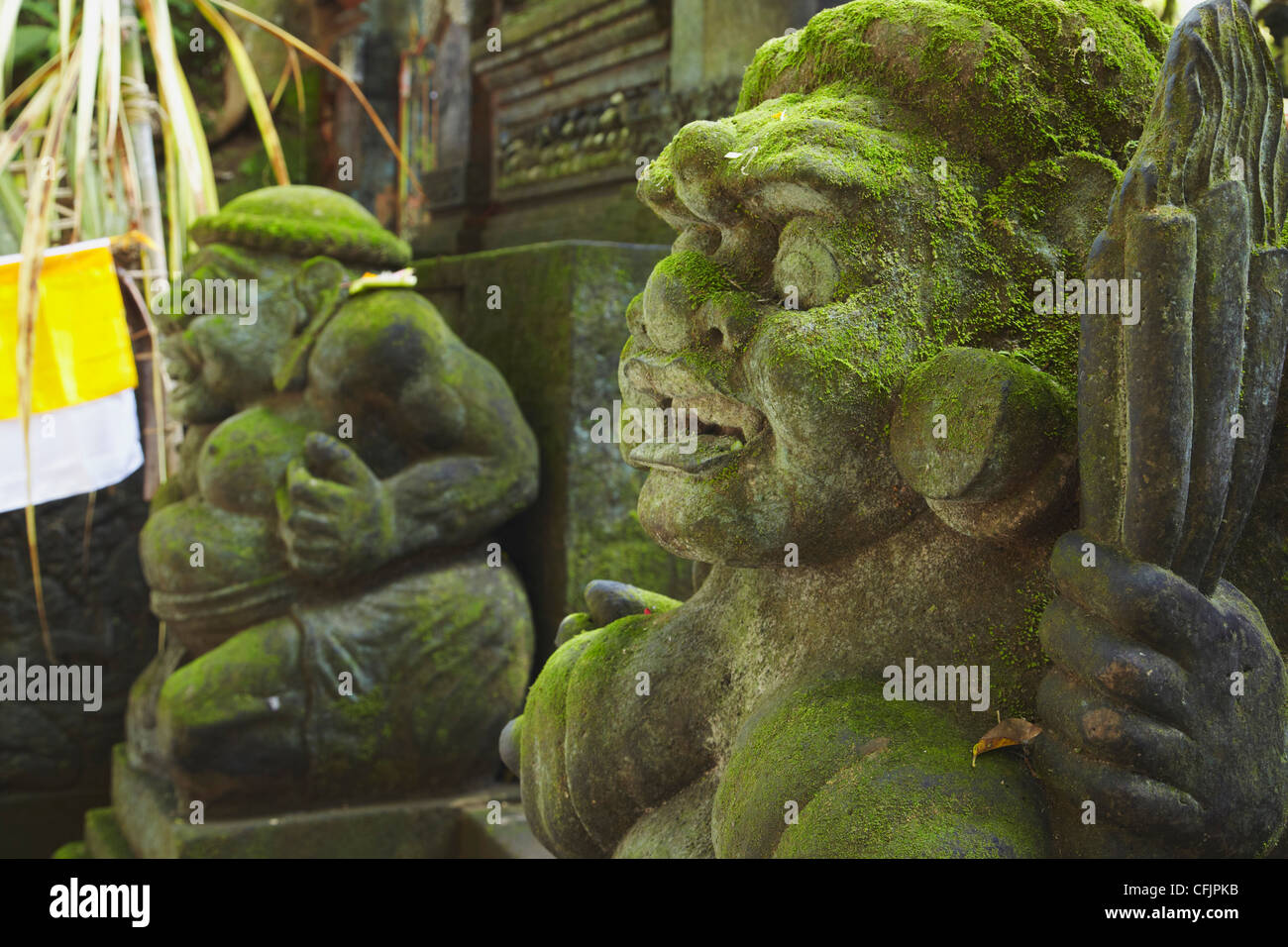 Statues in Monkey Forest, Ubud, Bali, Indonesia, Southeast Asia, Asia - Stock Image