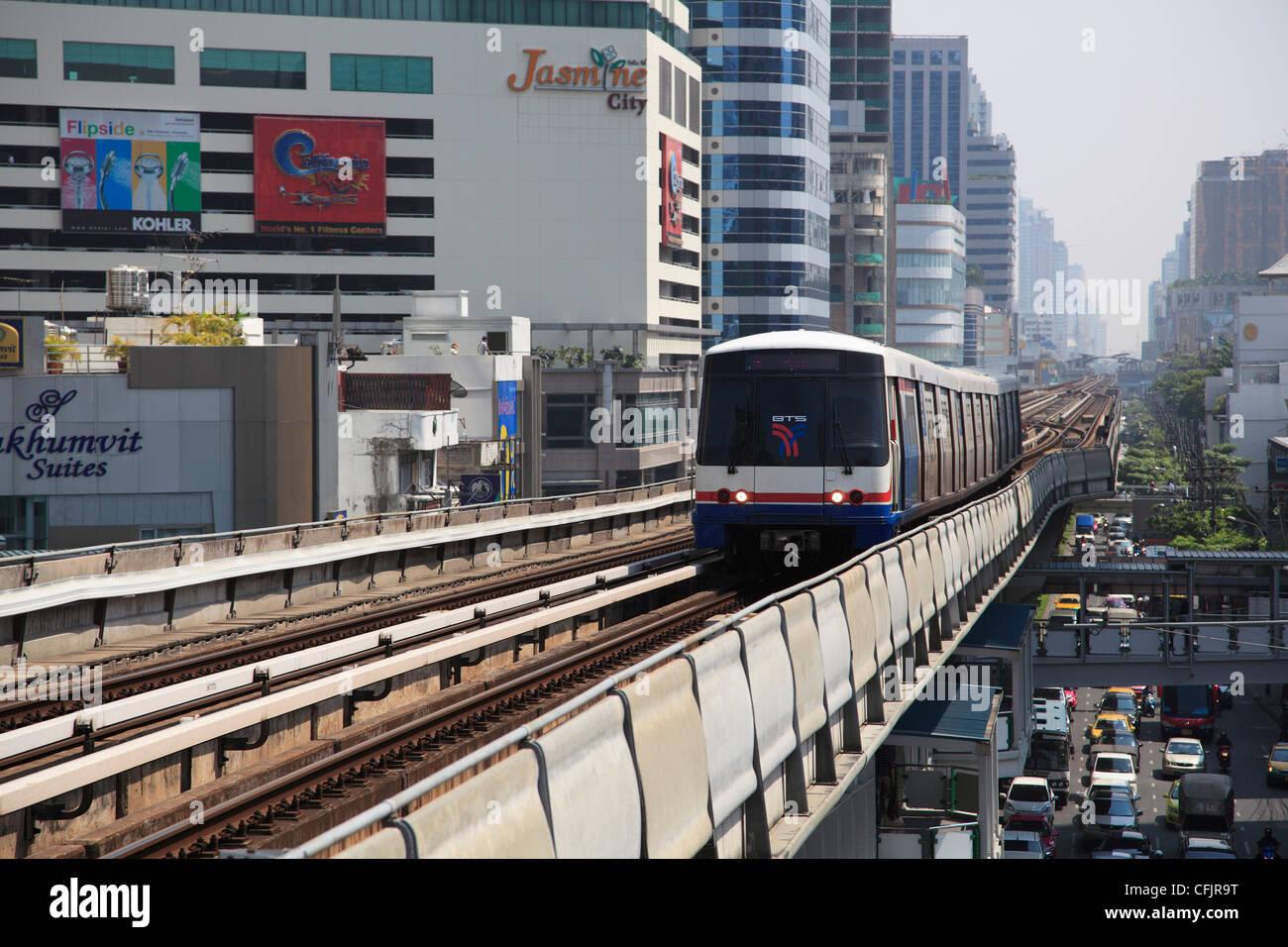 BTS Skytrain, Bangkok, Thailand, Southeast Asia, Asia Stock Photo