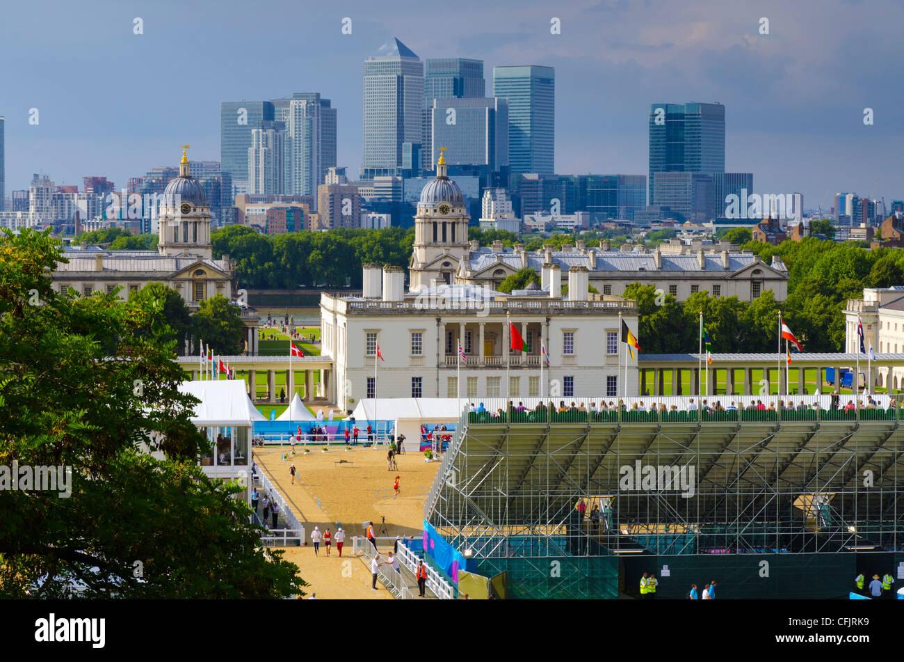 Greenwich Park, Canary Wharf, London, England, United Kingdom, Europe - Stock Image