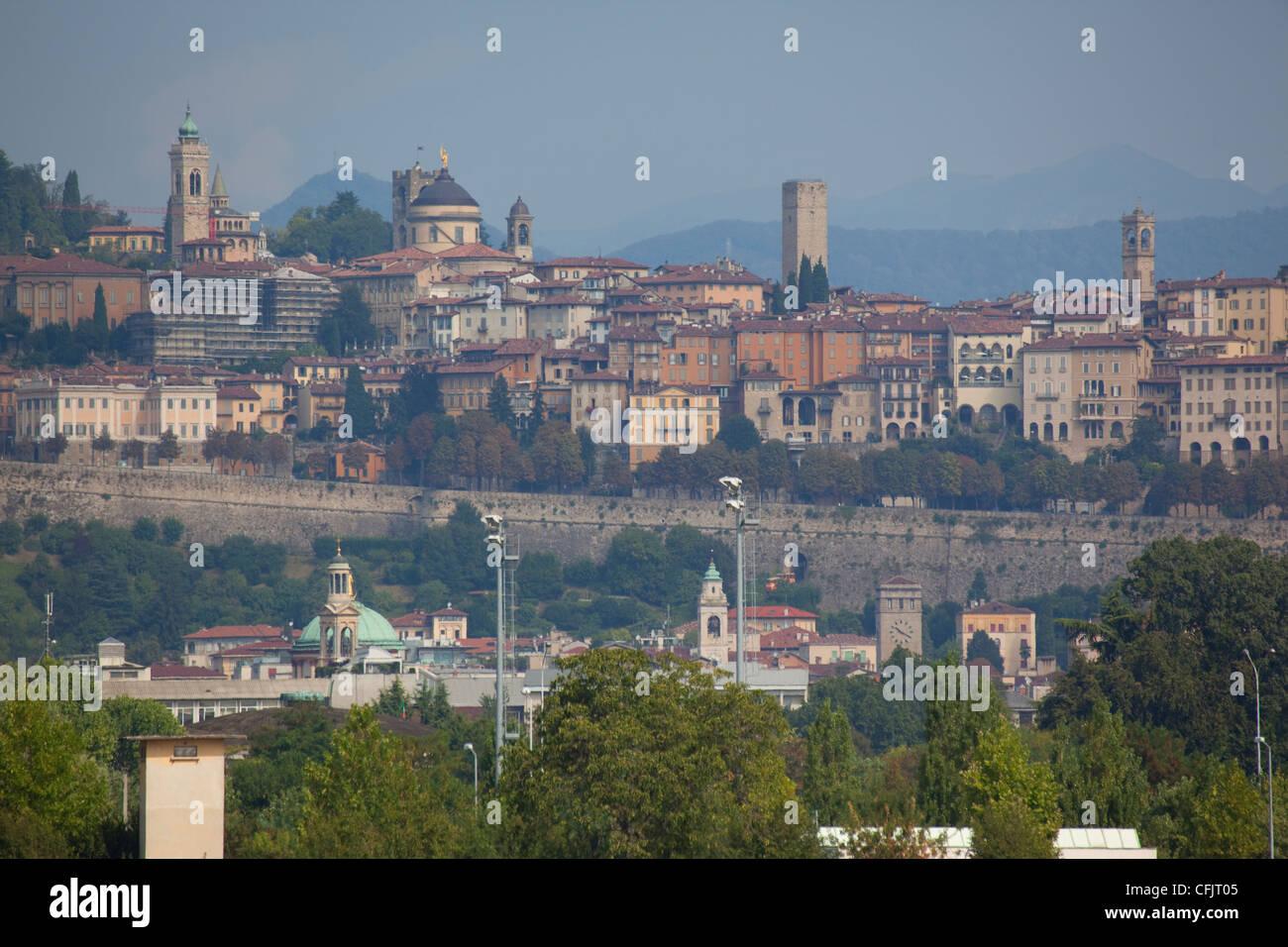 Skyline, Bergamo, Lombardy, Italy, Europe Stock Photo