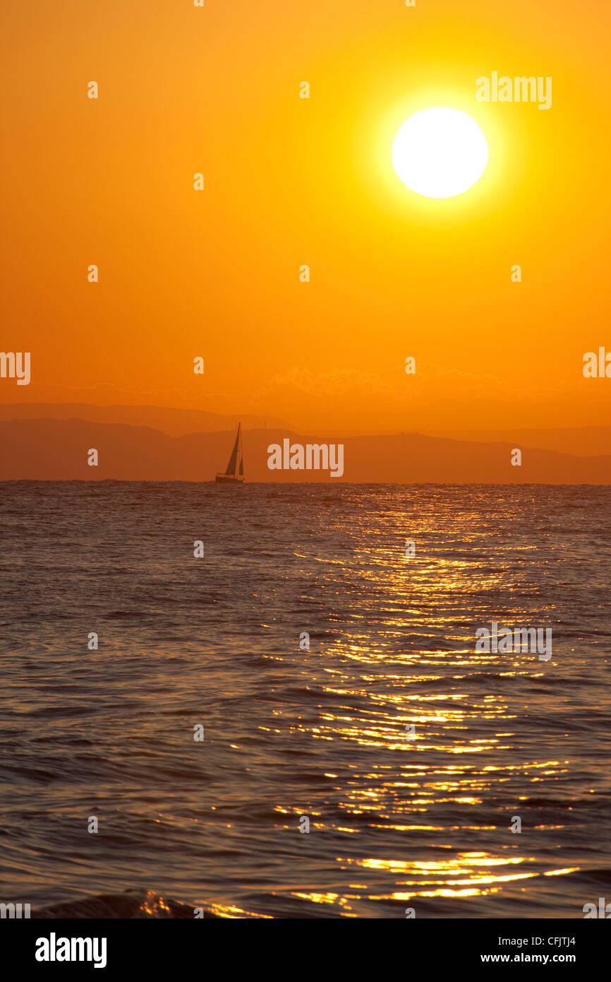 Sunrise, Argassi, Zante, Ionian Islands, Greek Islands, Greece, Europe - Stock Image