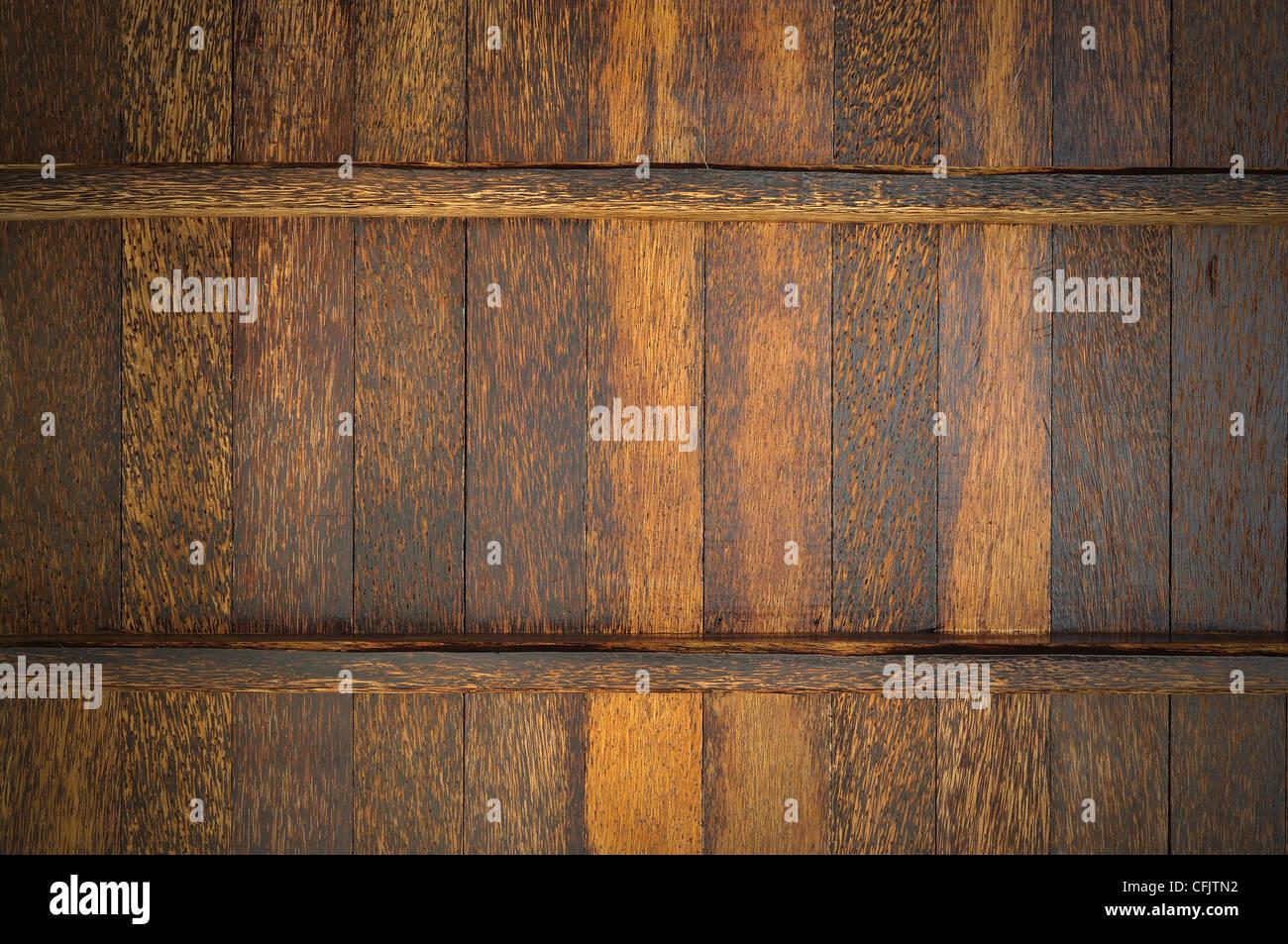 Palmyra Palm wood wall - Stock Image