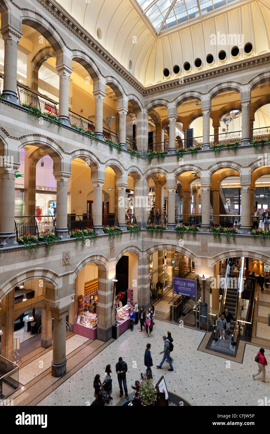 The Magna Plaza shopping centre, Amsterdam, North Holland, The Netherlands, Europe - Stock Image