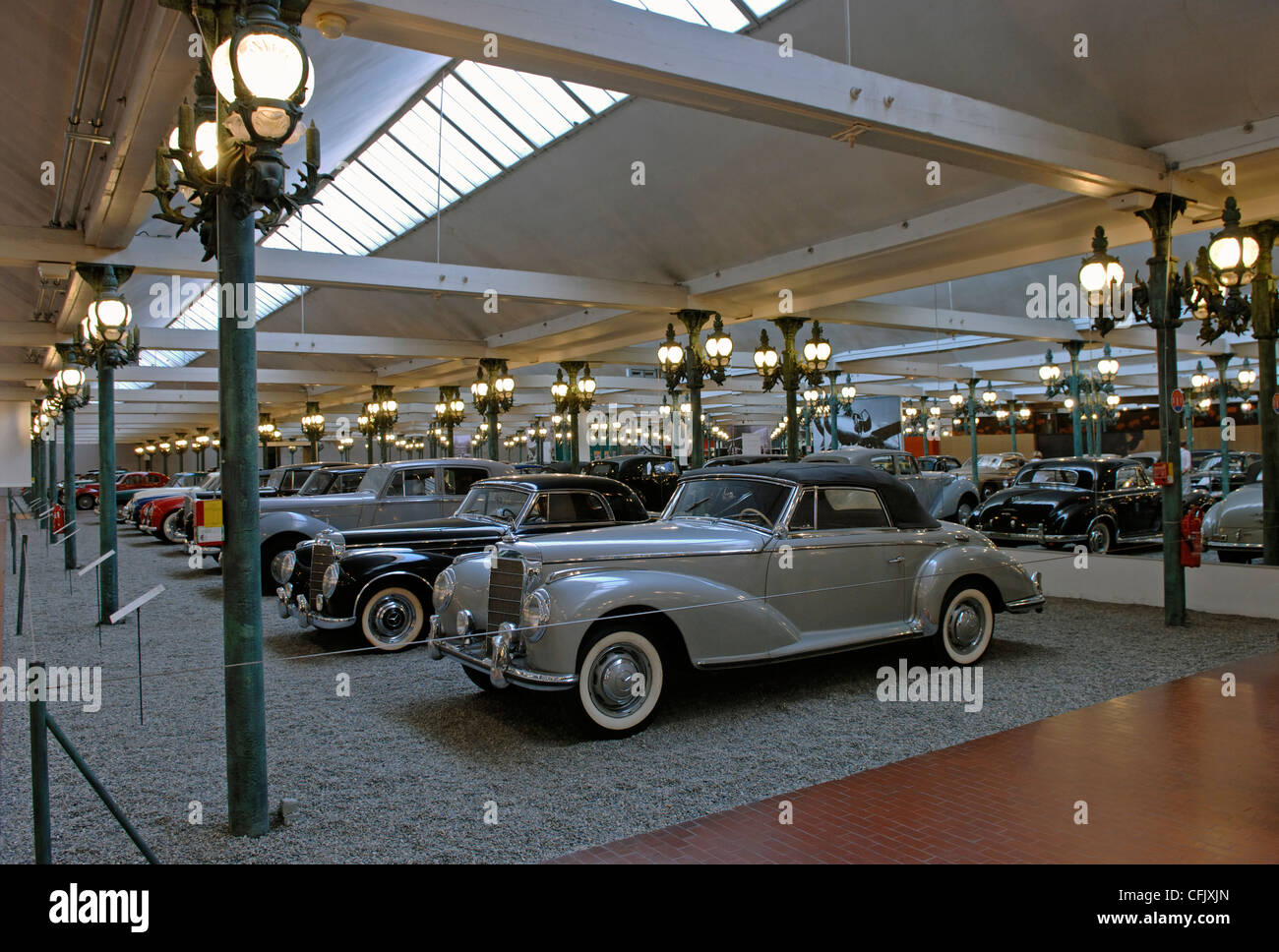 exhibition hall in the cite de l 39 automobile mulhouse in the haut stock photo 44056621 alamy. Black Bedroom Furniture Sets. Home Design Ideas