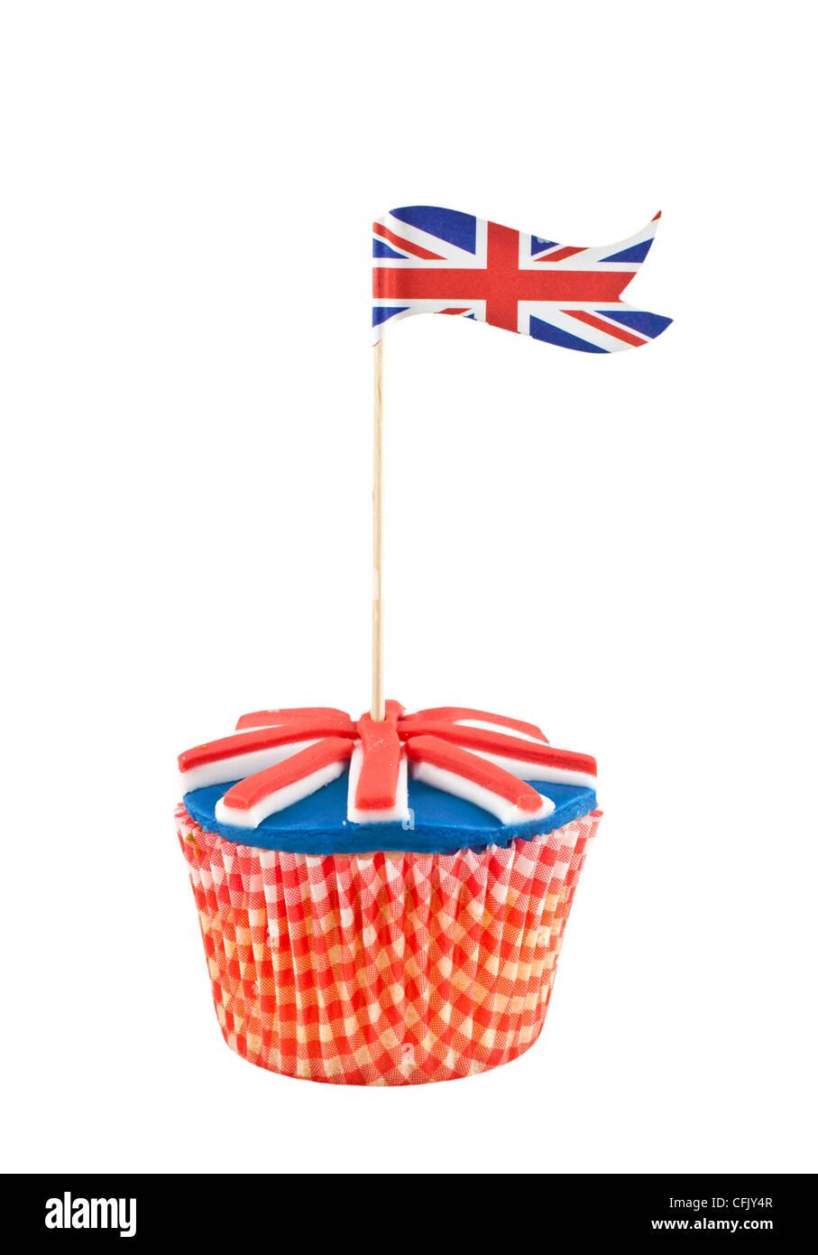 union jack flag cupcake - Stock Image