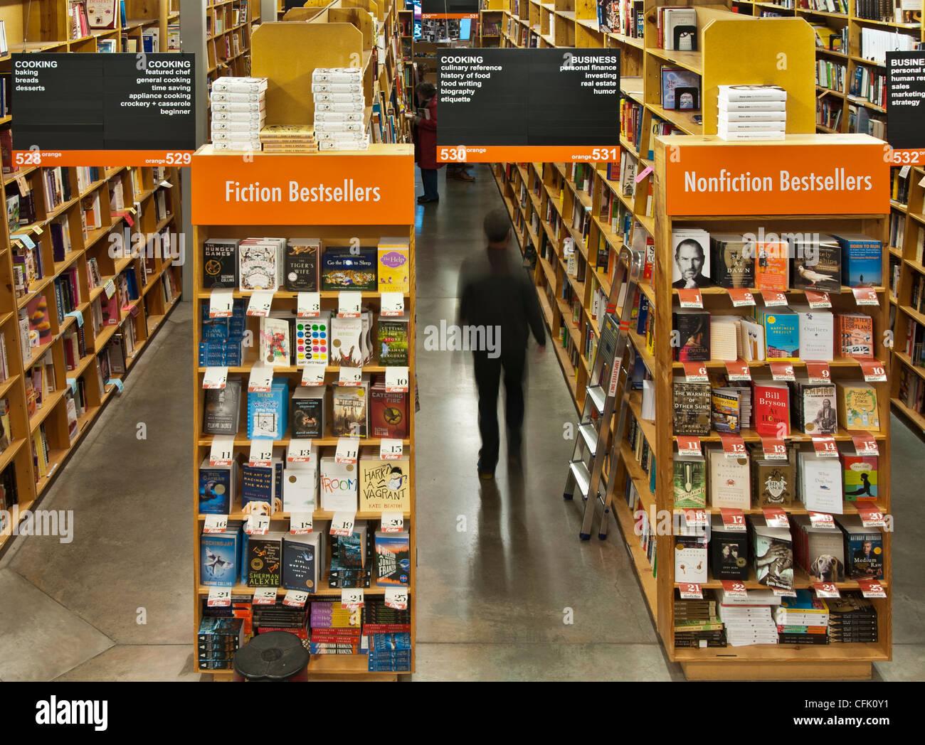 Powell's City of Books bookstore in Portland, Oregon. - Stock Image