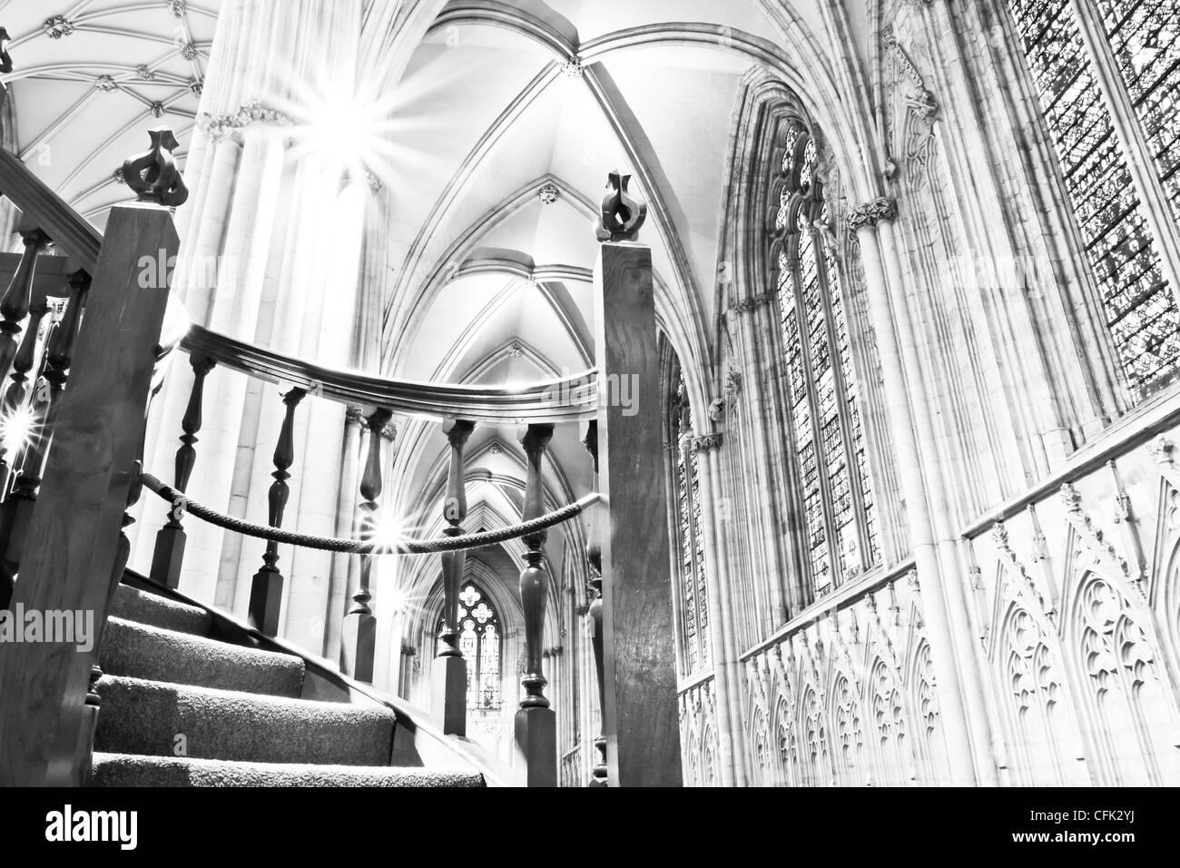 York Minster; Stairway to Heaven - Stock Image