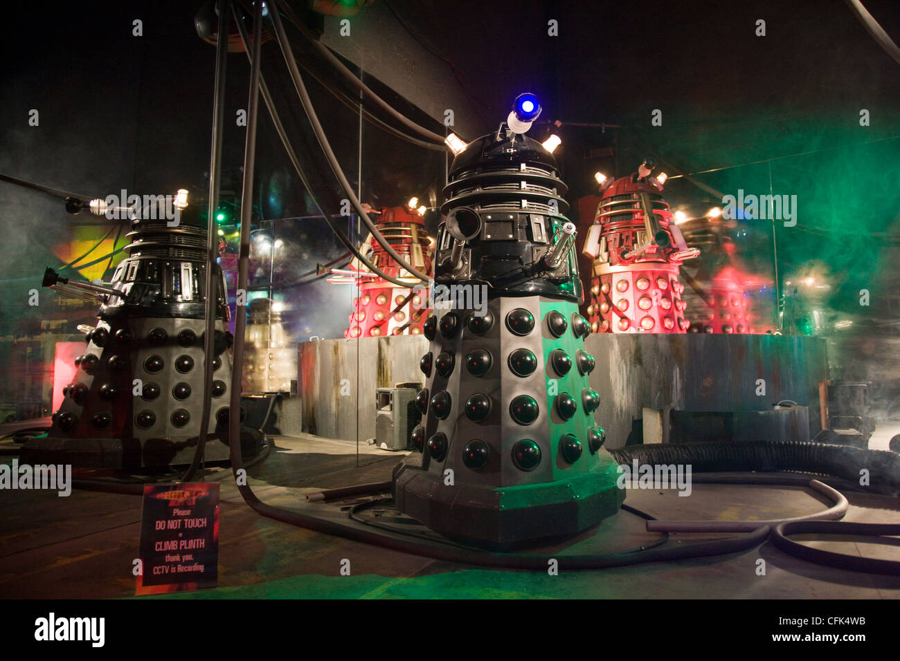 Daleks at a Doctor Who exhibition - Stock Image