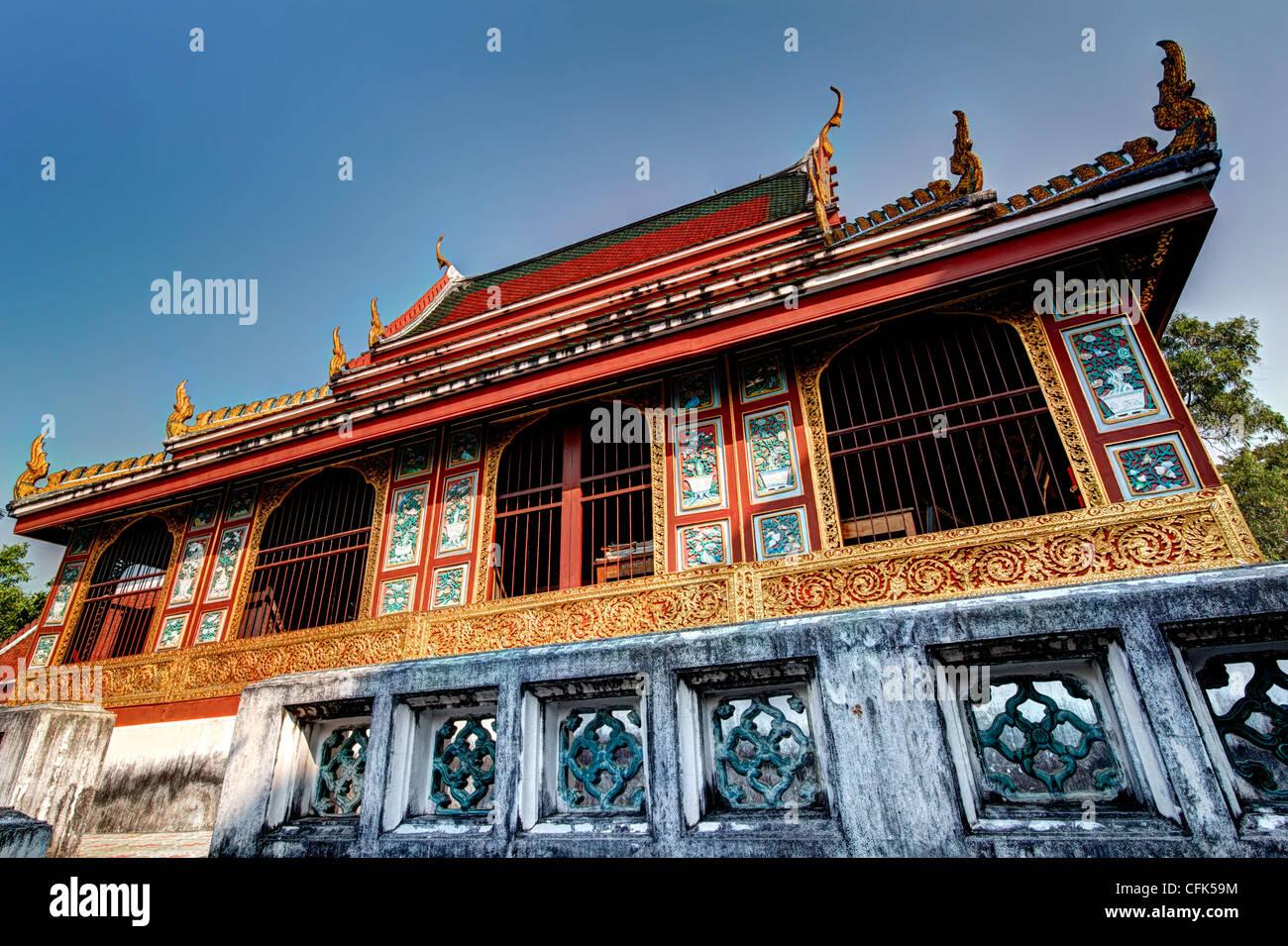 Scripture Library | Wat Saket | Bangkok - Stock Image