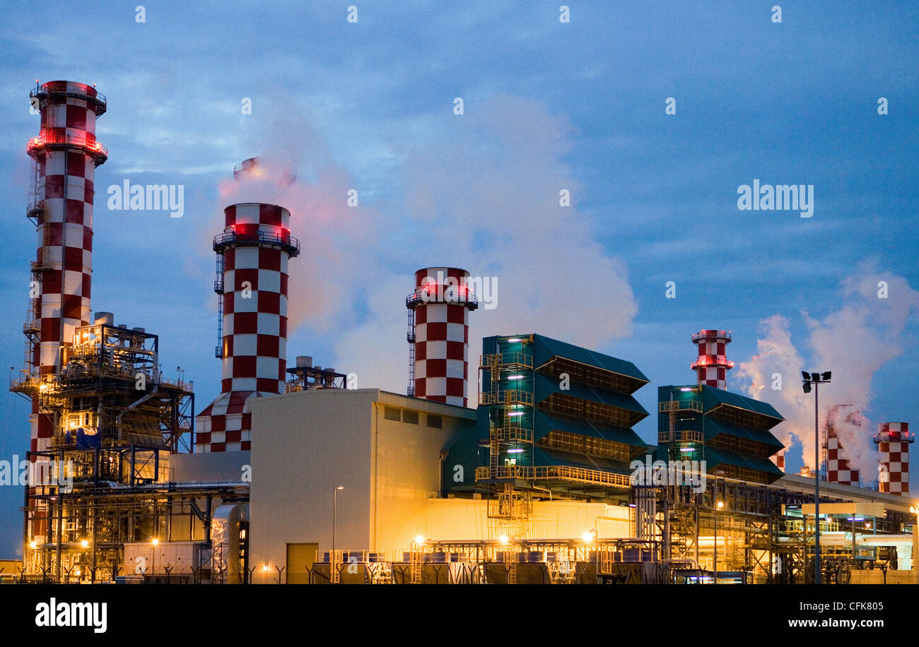 Bahrain, Muharraq, the Hidd industrial area Stock Photo