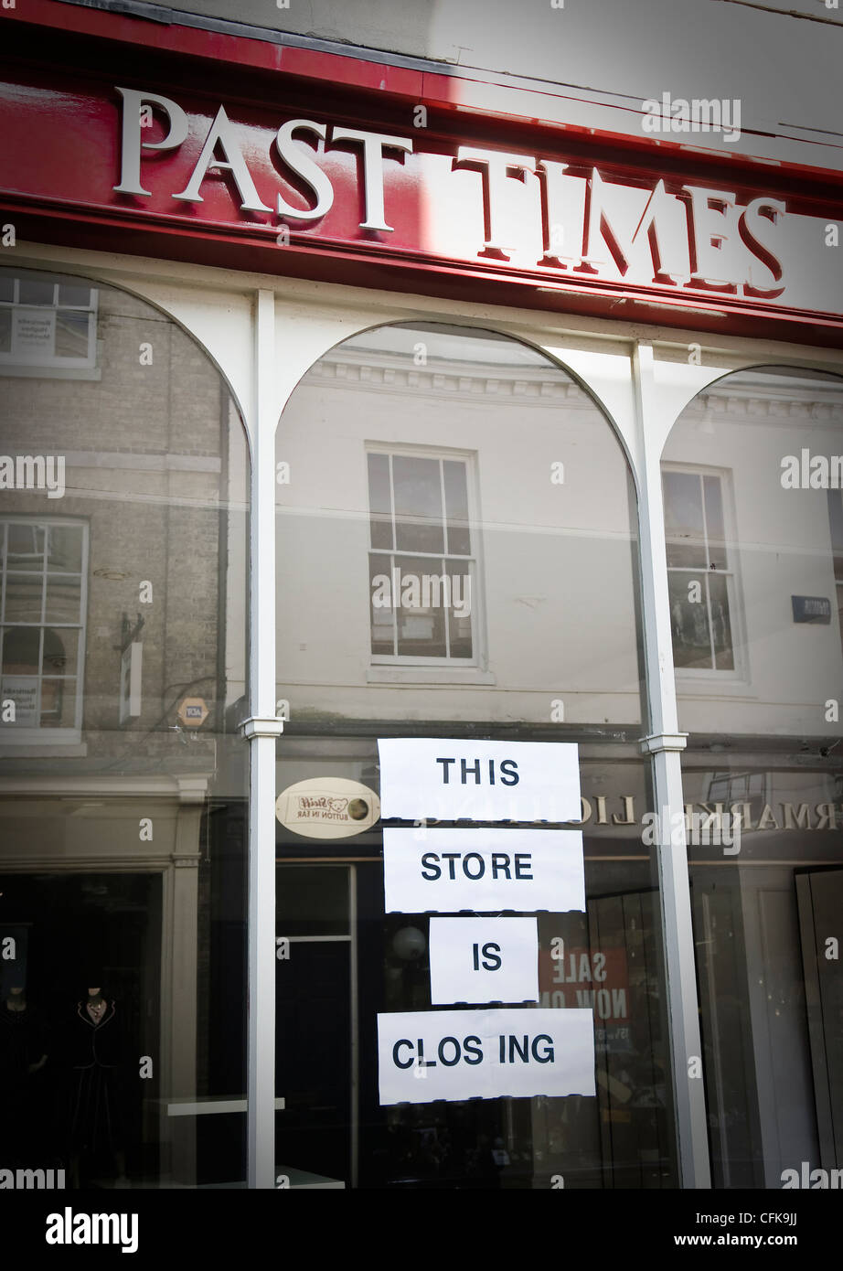 Past Times - this store is closing. Buttermarket, Ipswich, Suffolk, UK. Stock Photo